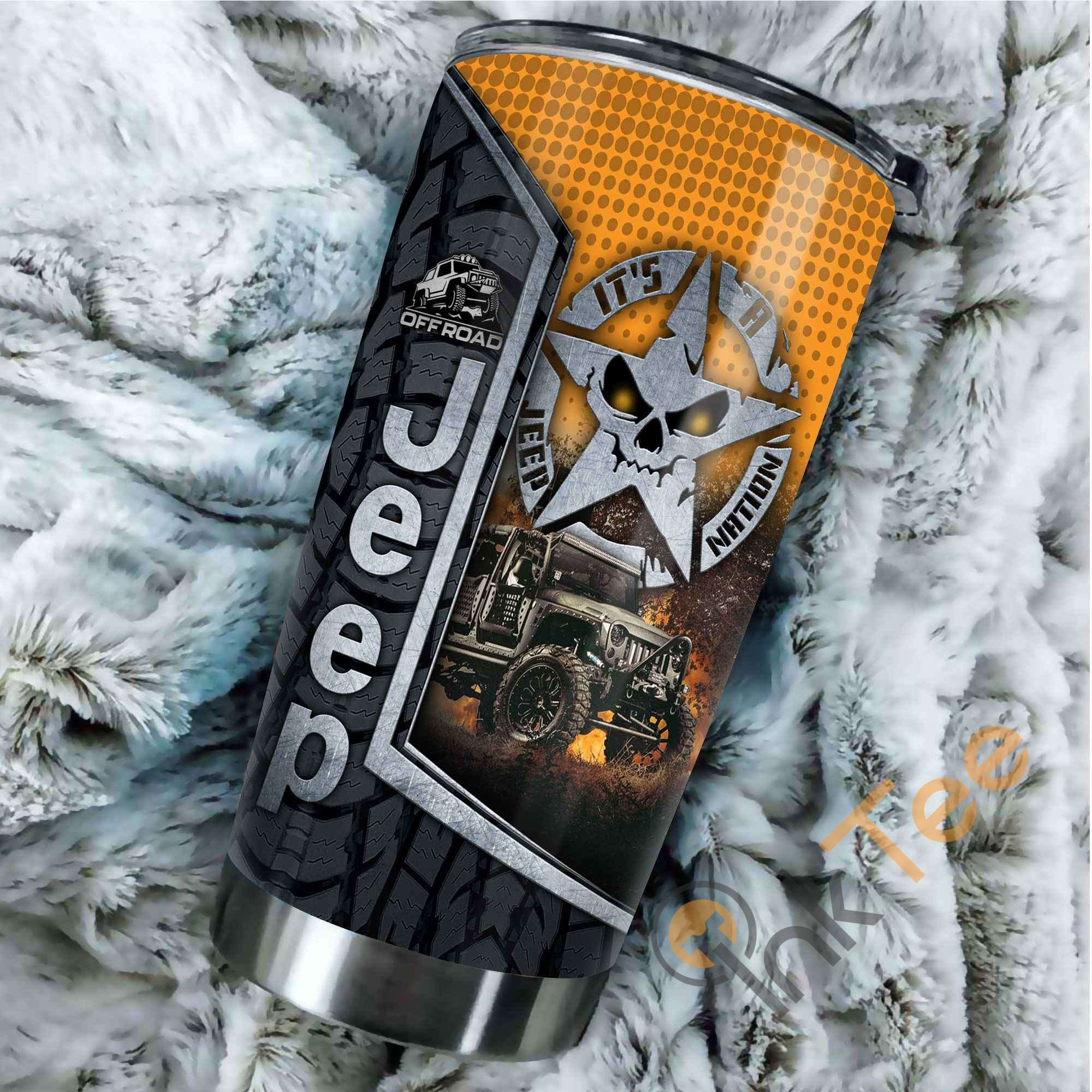 Beautiful Jeep Stainless Steel Tumbler