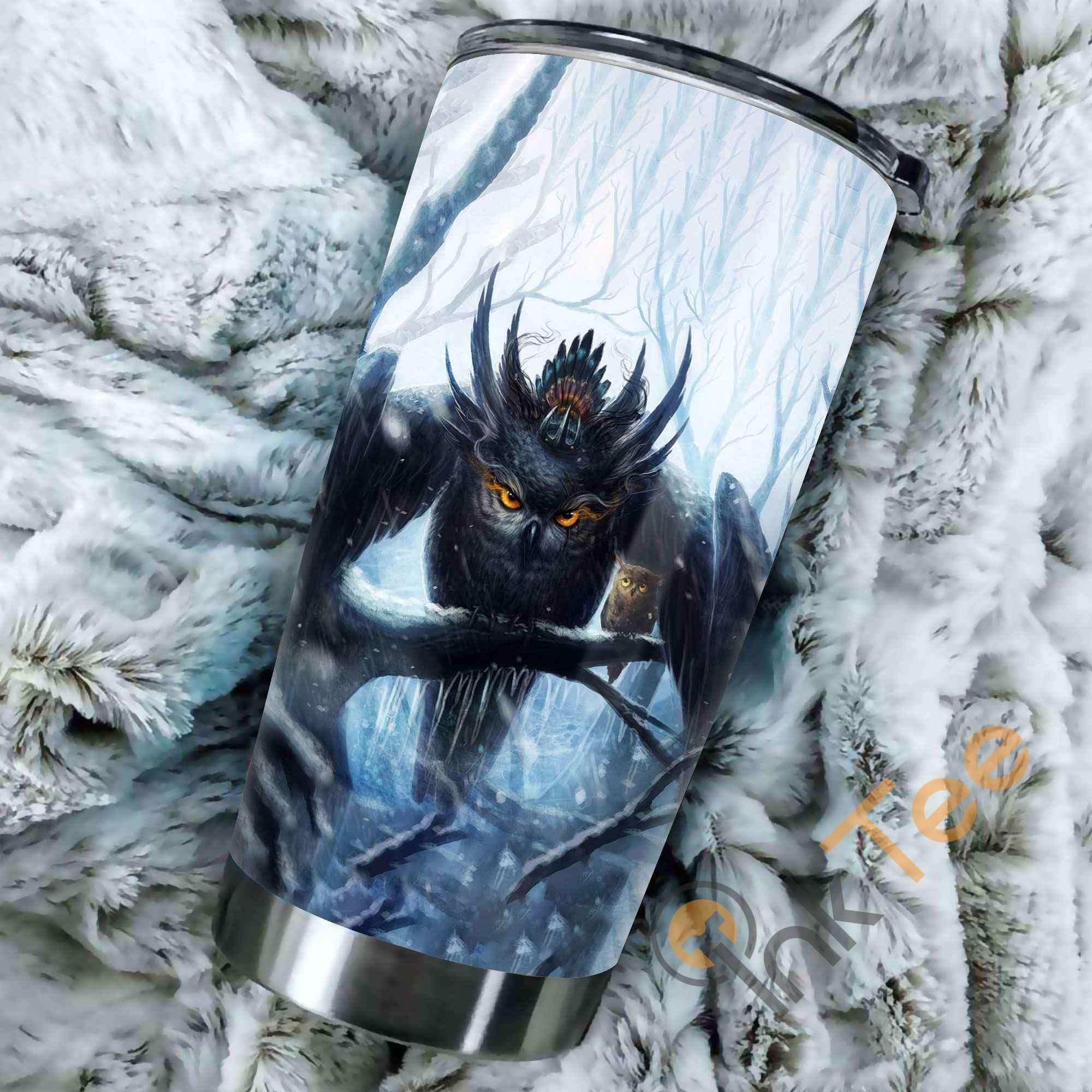 Beautiful Owl Art Stainless Steel Tumbler