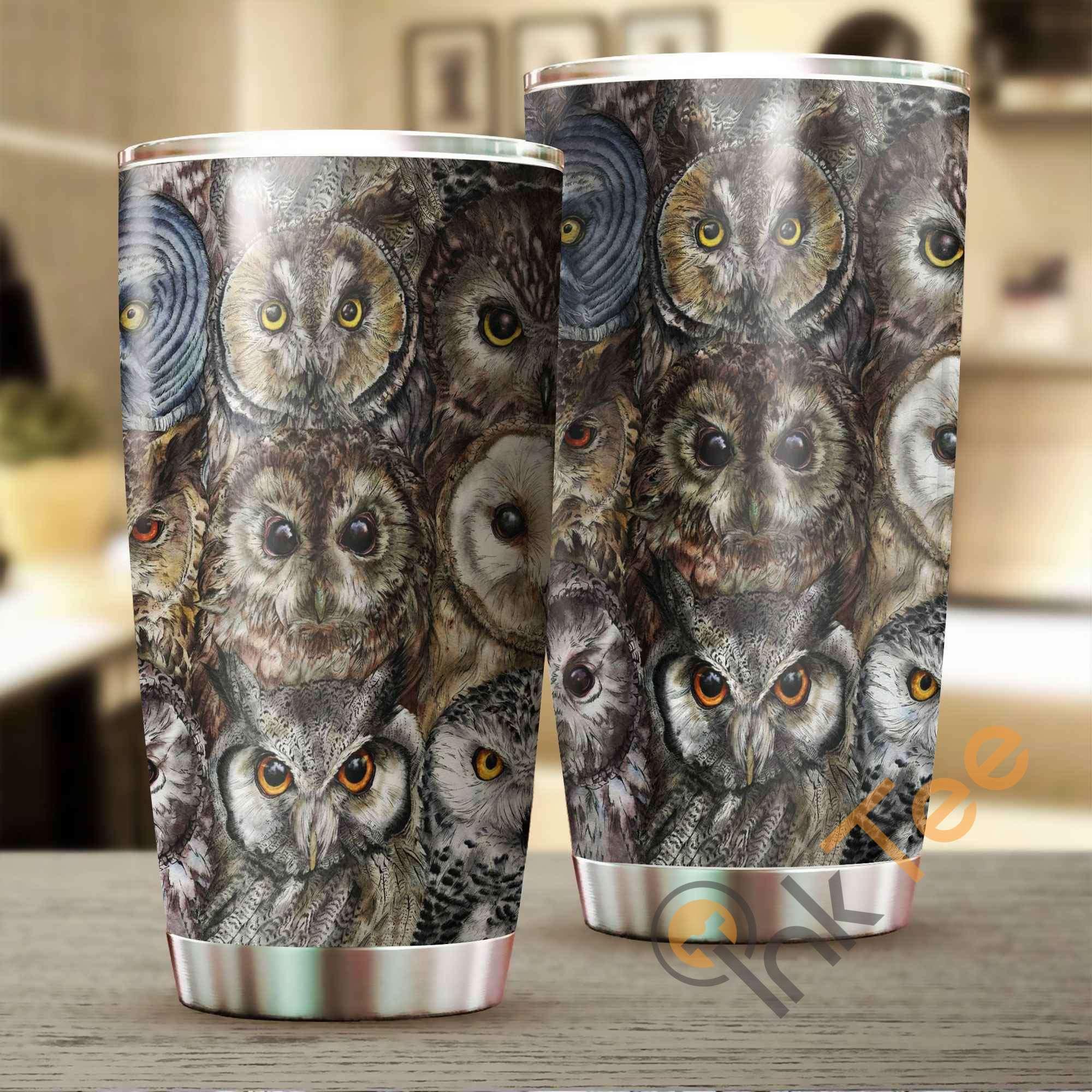 Beautiful Owl Stainless Steel Tumbler