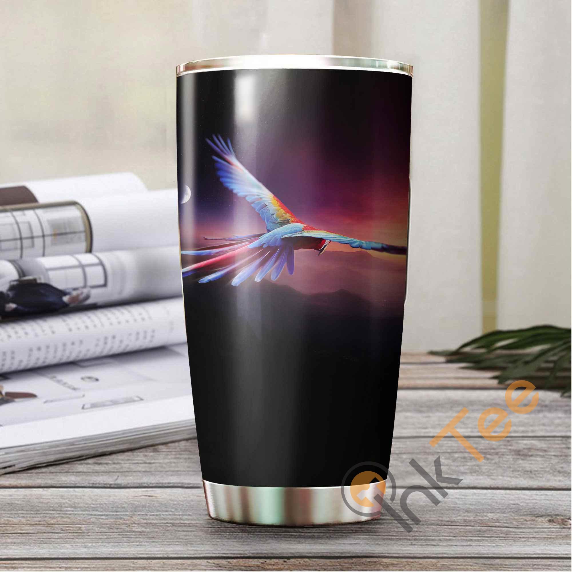 Beautiful Parrot Amazon Best Seller Sku 3056 Stainless Steel Tumbler