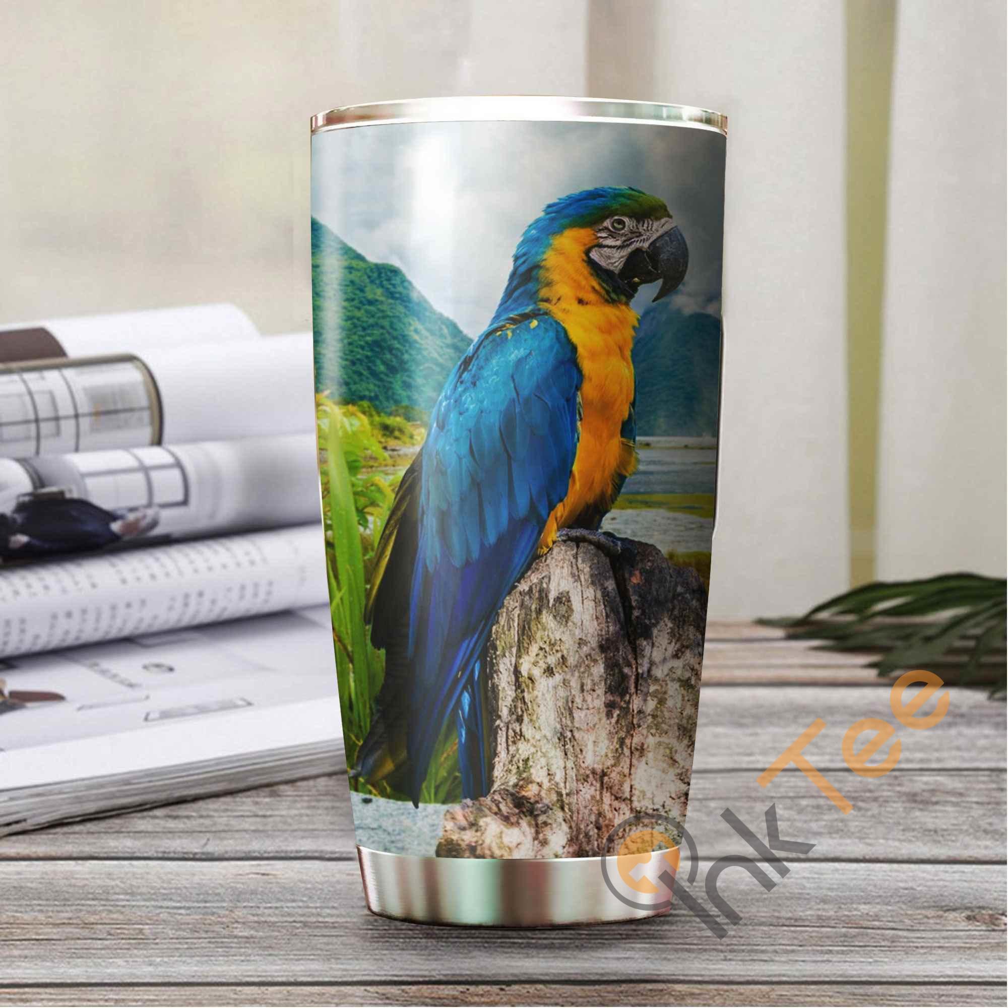 Beautiful Parrot Amazon Best Seller Sku 3241 Stainless Steel Tumbler