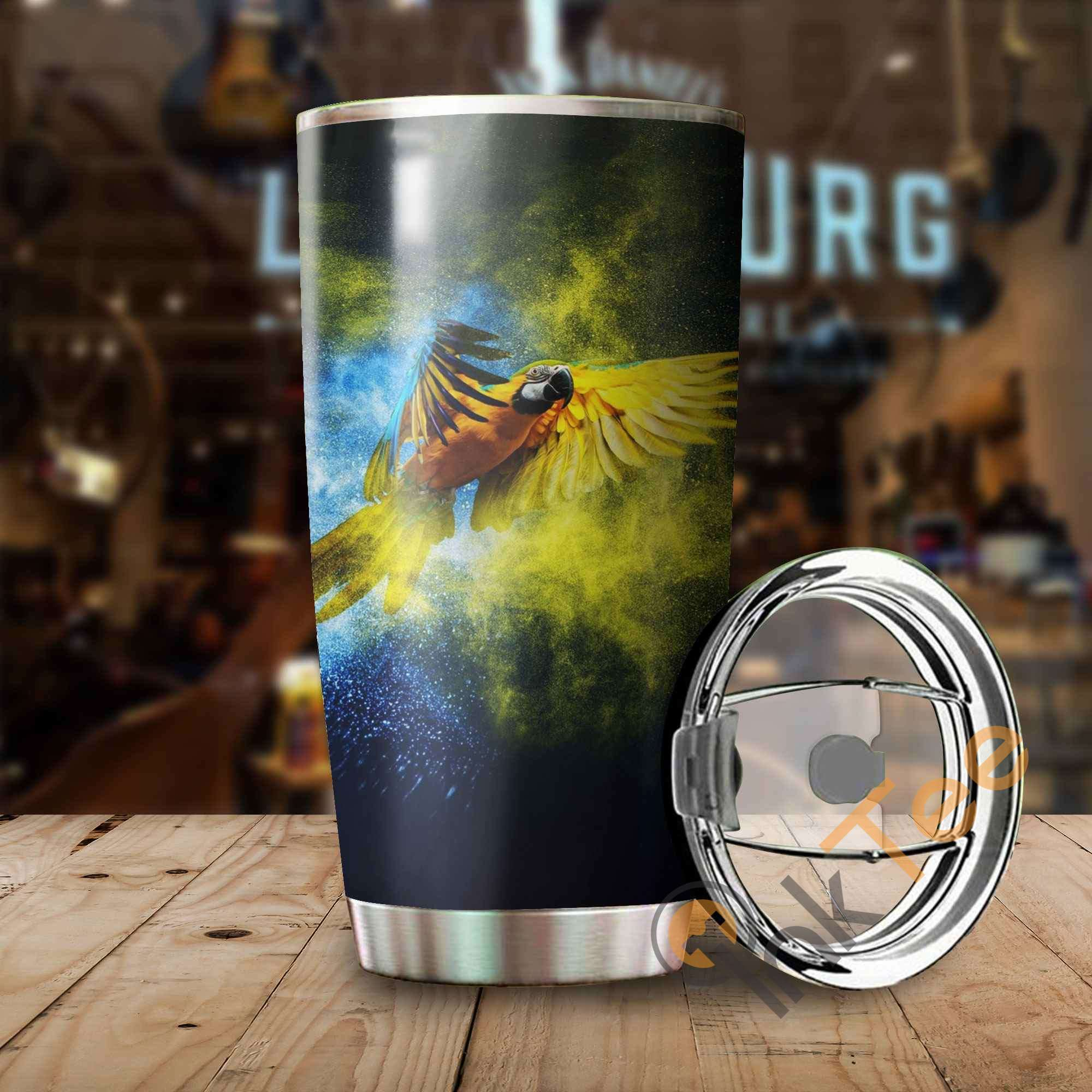 Beautiful Parrot Amazon Best Seller Sku 3361 Stainless Steel Tumbler