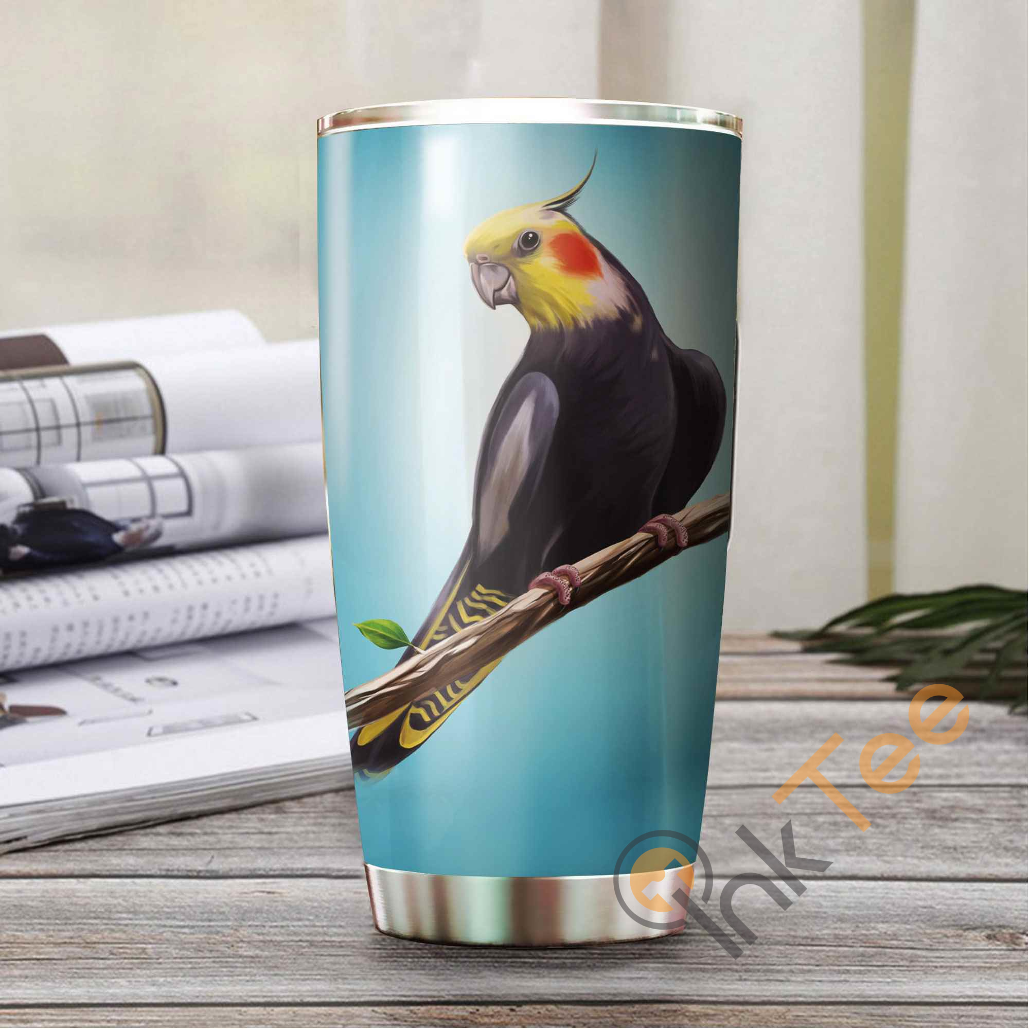 Beautiful Parrot Stainless Steel Tumbler