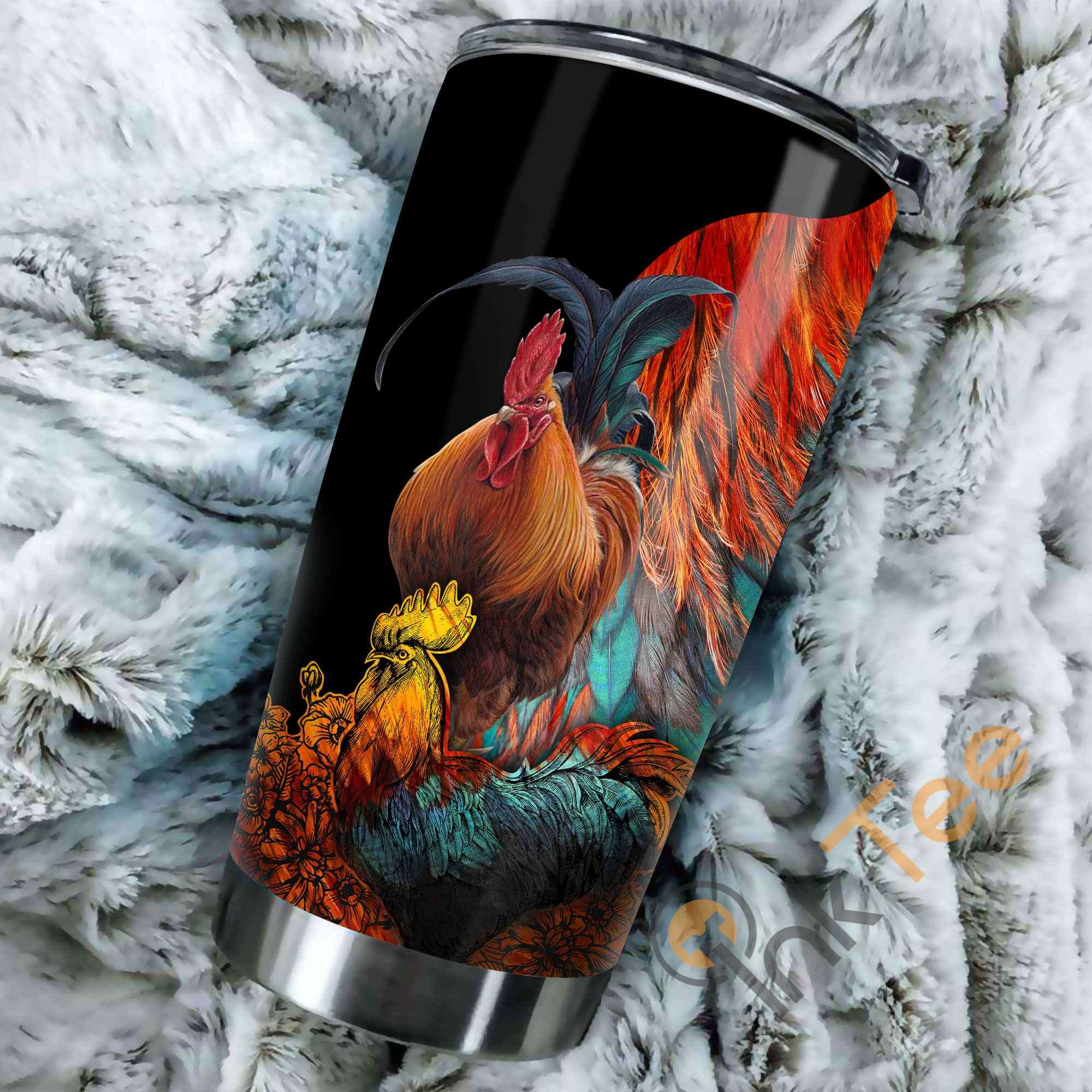 Beautiful Rooster Stainless Steel Tumbler