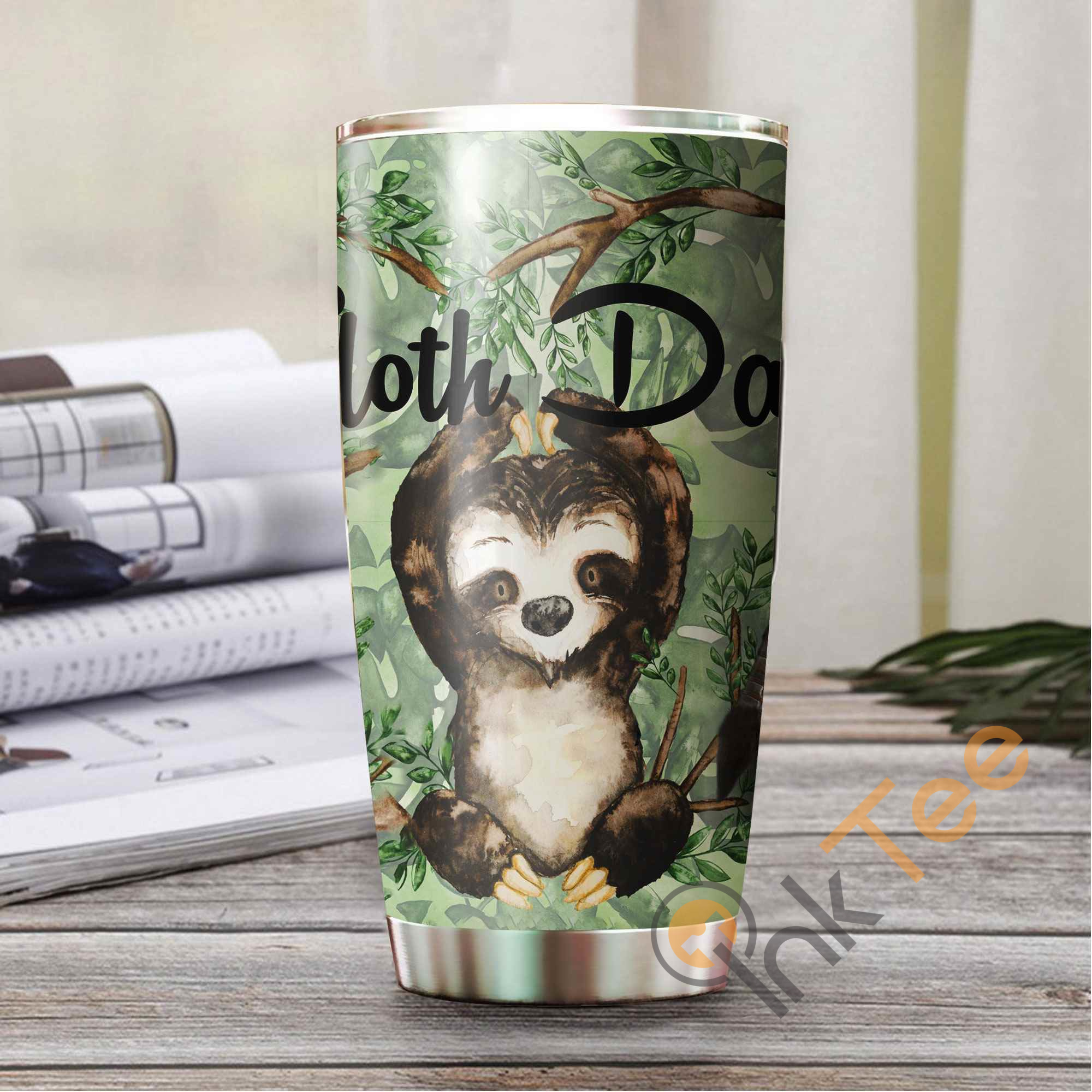 Beautiful Sloth Amazon Best Seller Sku 2657 Stainless Steel Tumbler