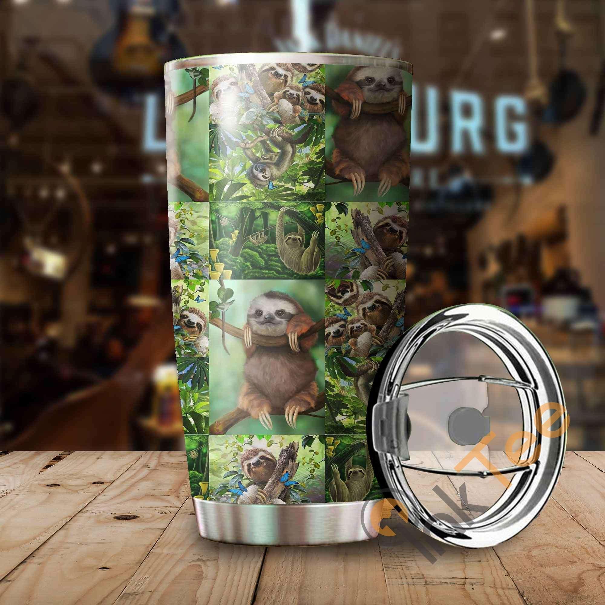 Beautiful Sloth Amazon Best Seller Sku 2794 Stainless Steel Tumbler
