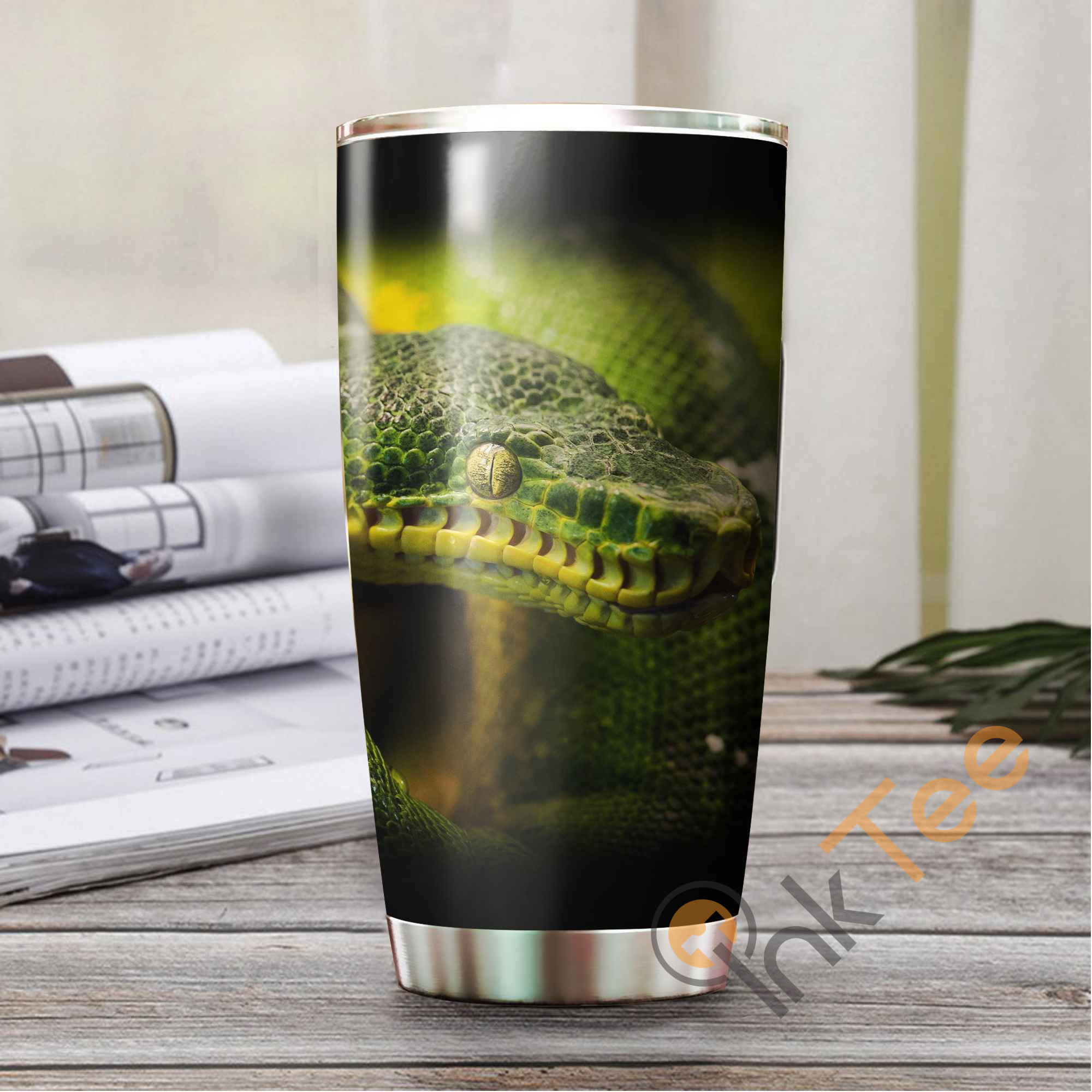 Beautiful Snake Stainless Steel Tumbler