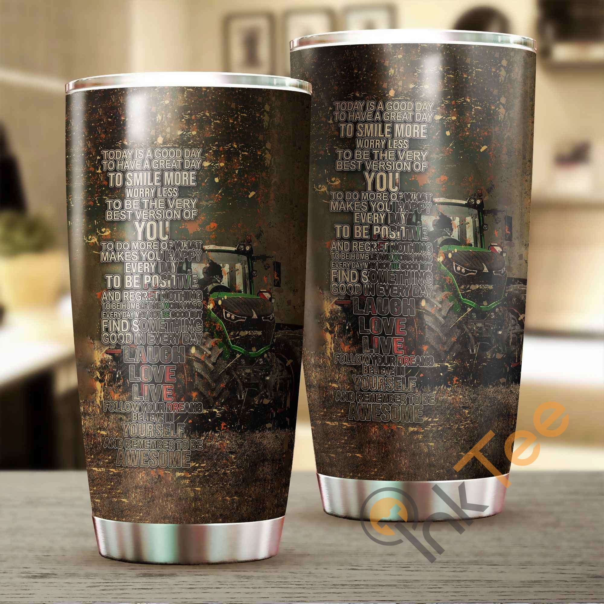 Beautiful Tractor Art Stainless Steel Tumbler