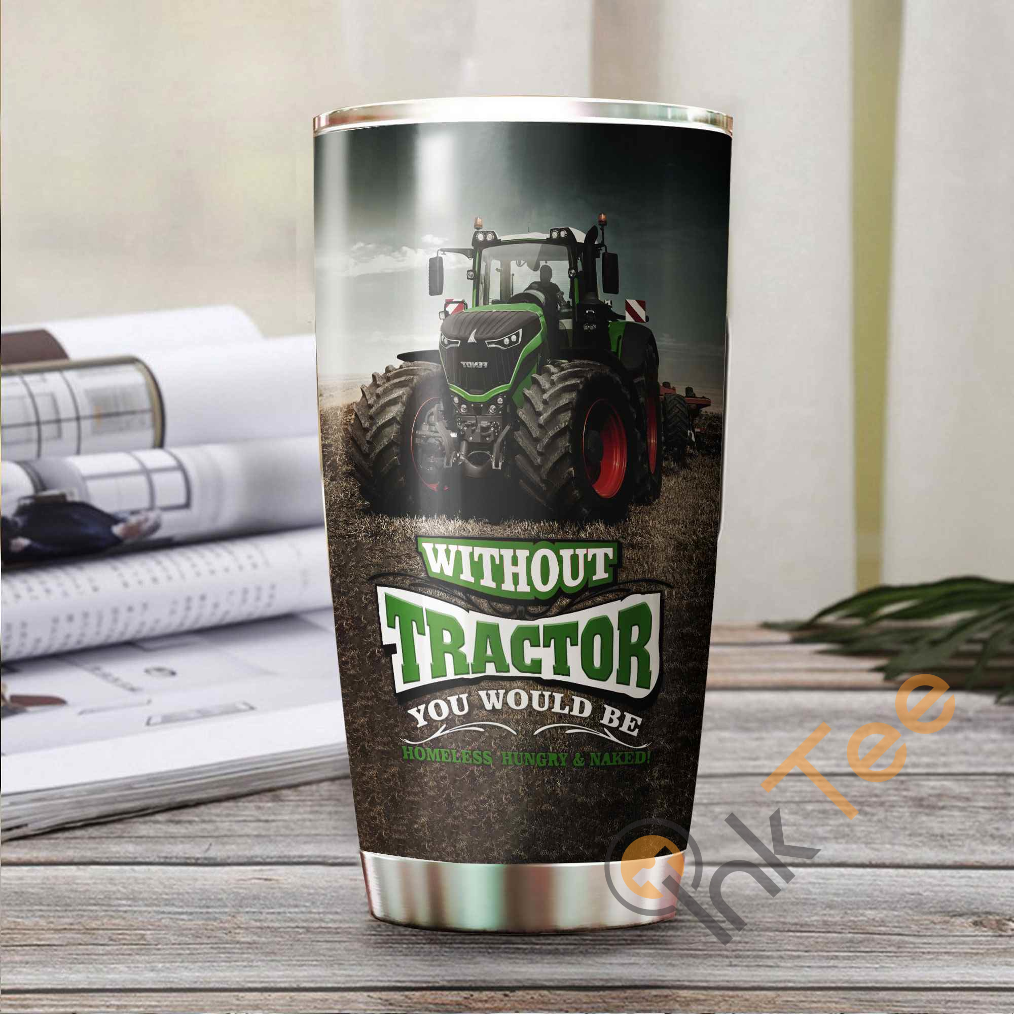 Beautiful Tractor Stainless Steel Tumbler