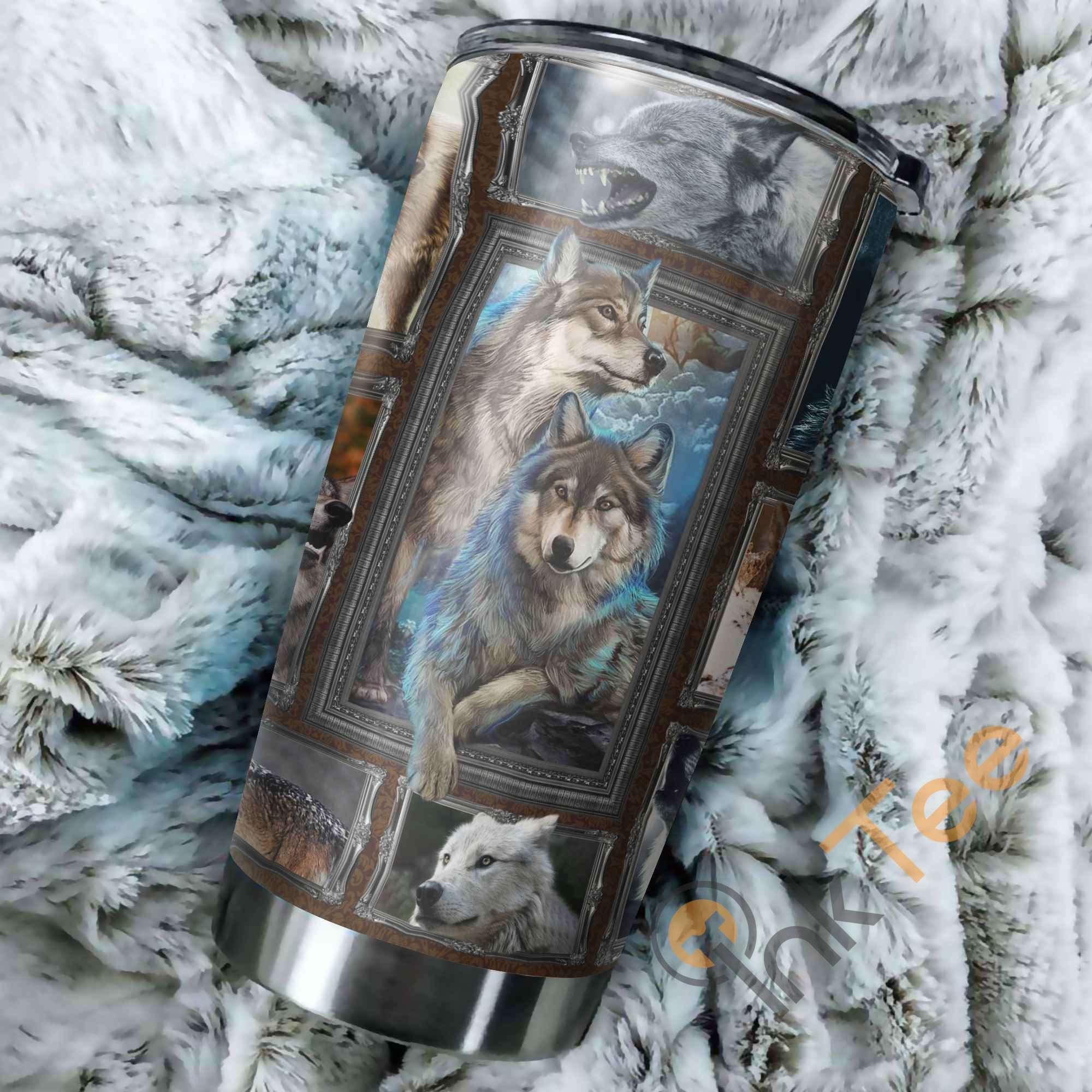 Beautiful Wolf Amazon Best Seller Sku 2802 Stainless Steel Tumbler