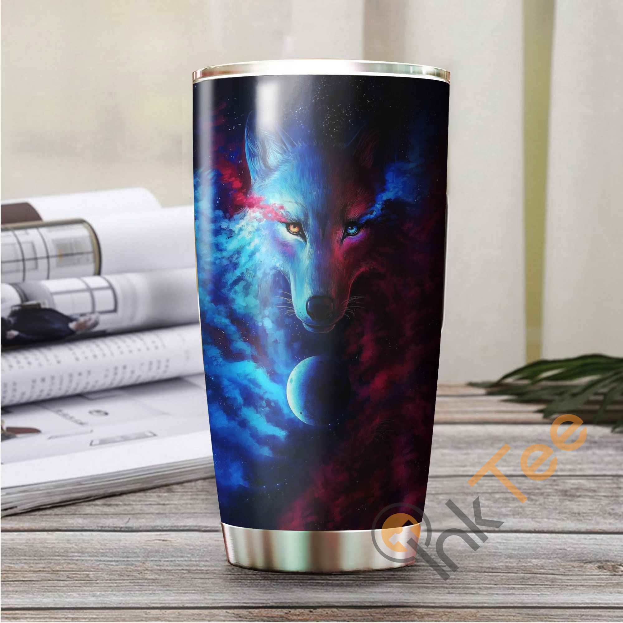 Beautiful Wolf Amazon Best Seller Sku 3411 Stainless Steel Tumbler