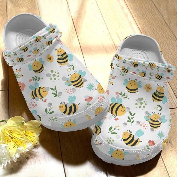 Bee Best Friend Gift Crocs Clog Shoes