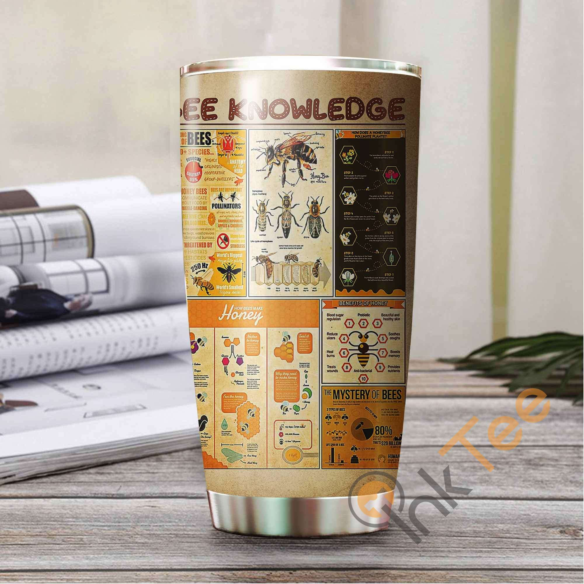 Bee Knowledge Stainless Steel Tumbler