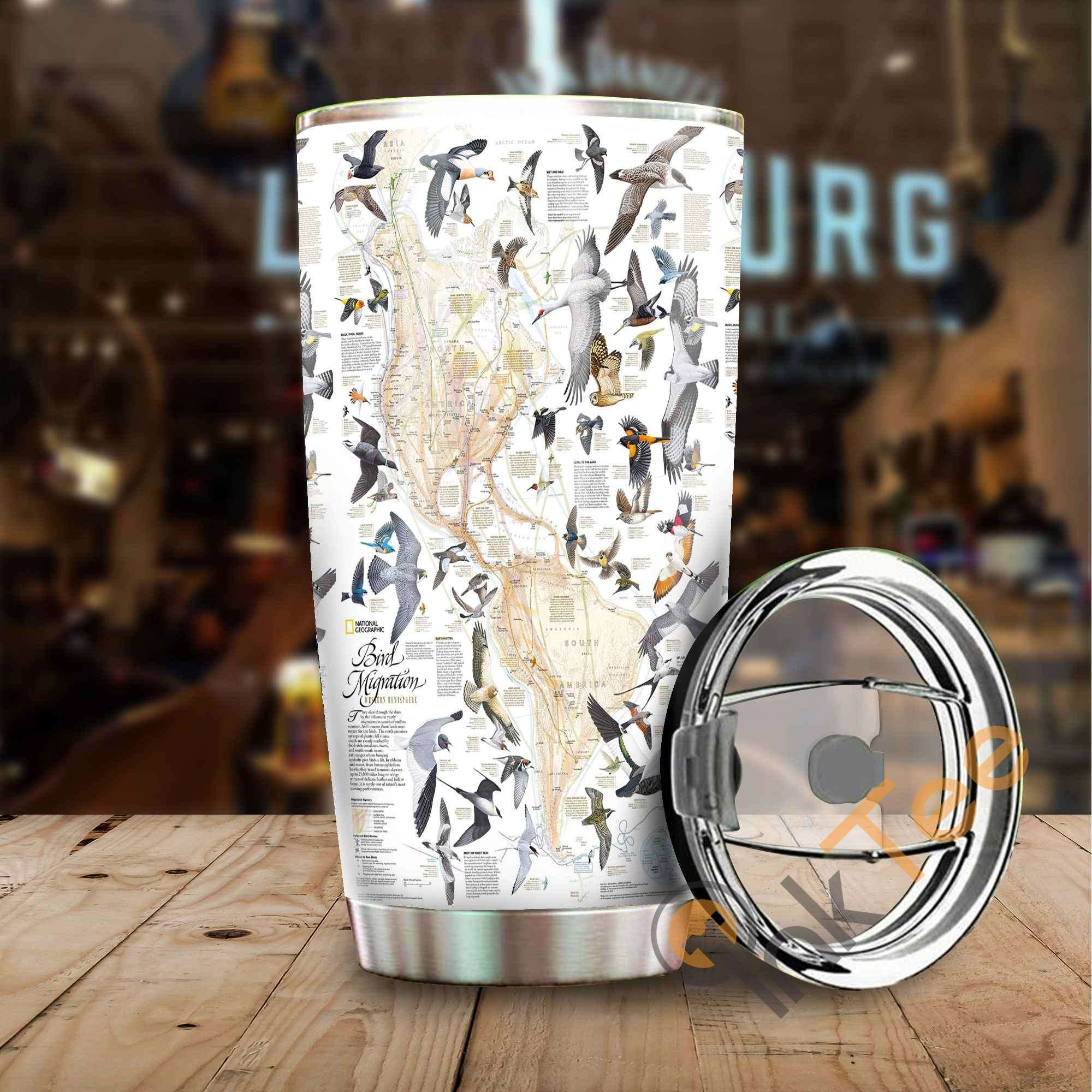 Bird Migration Stainless Steel Tumbler