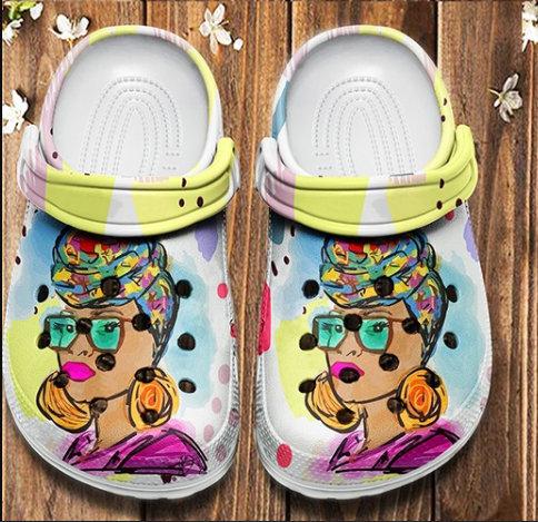 Black Woman Birthday Gift Crocs Clog Shoes