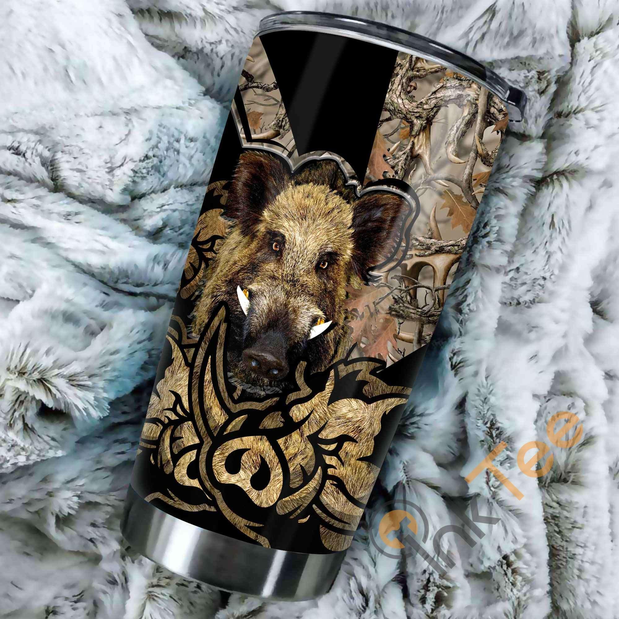 Boar Hunting Amazon Best Seller Sku 3647 Stainless Steel Tumbler