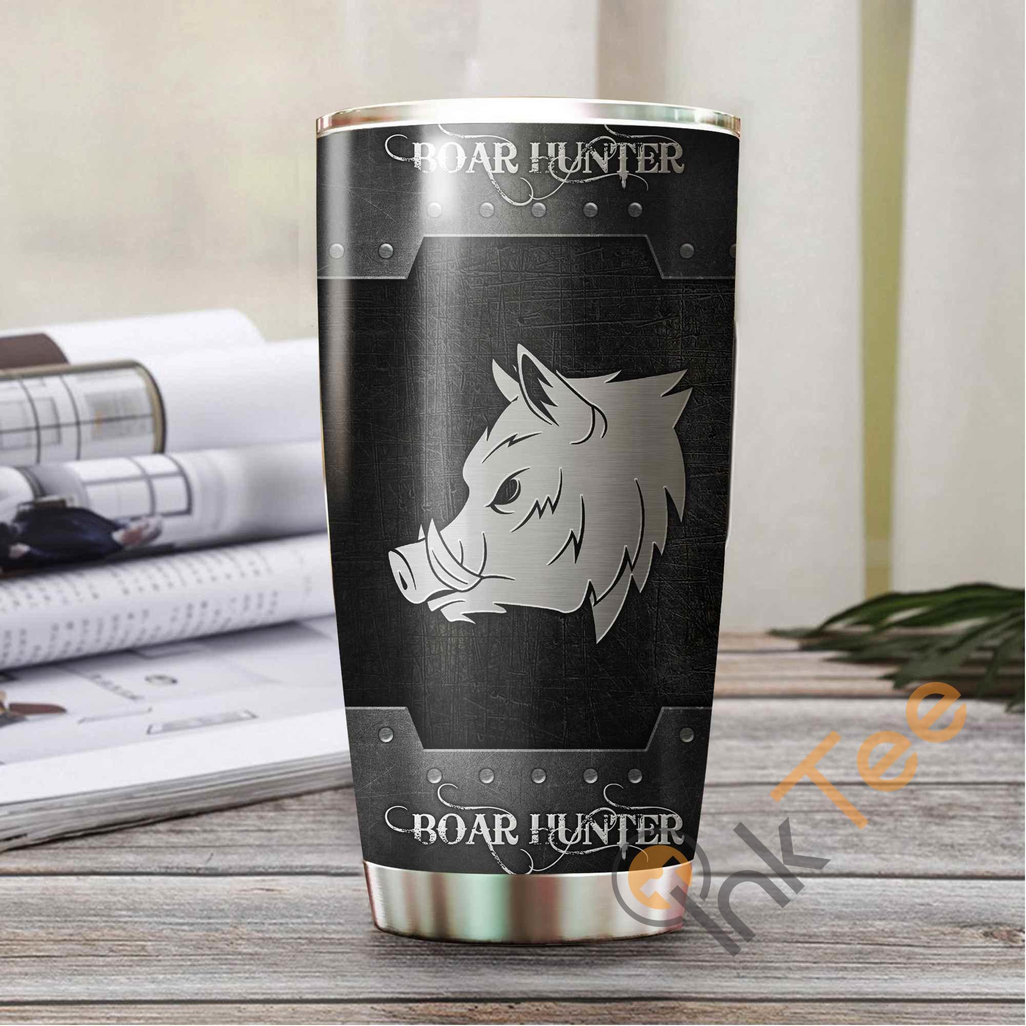 Boar Hunting Metal Stainless Steel Tumbler