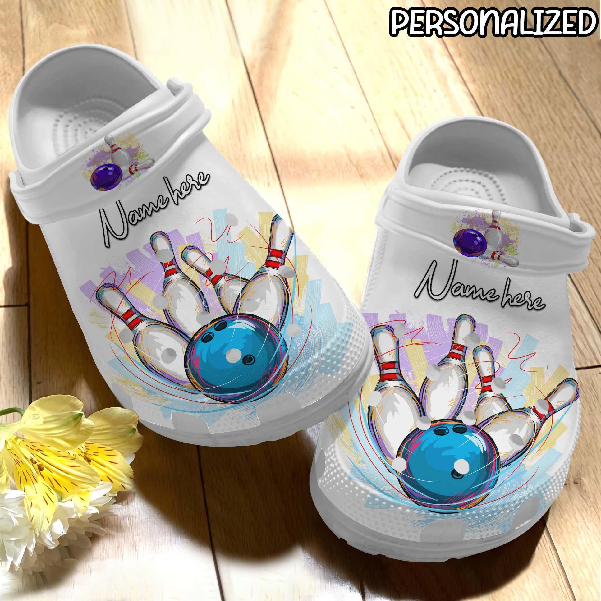 Bowling Personalized Crocs Clog Shoes