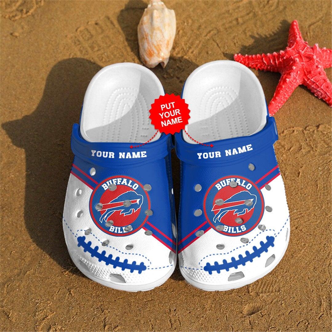 Buffalo Bills Personalized Custom For Nfl Fans Crocs Clog Shoes