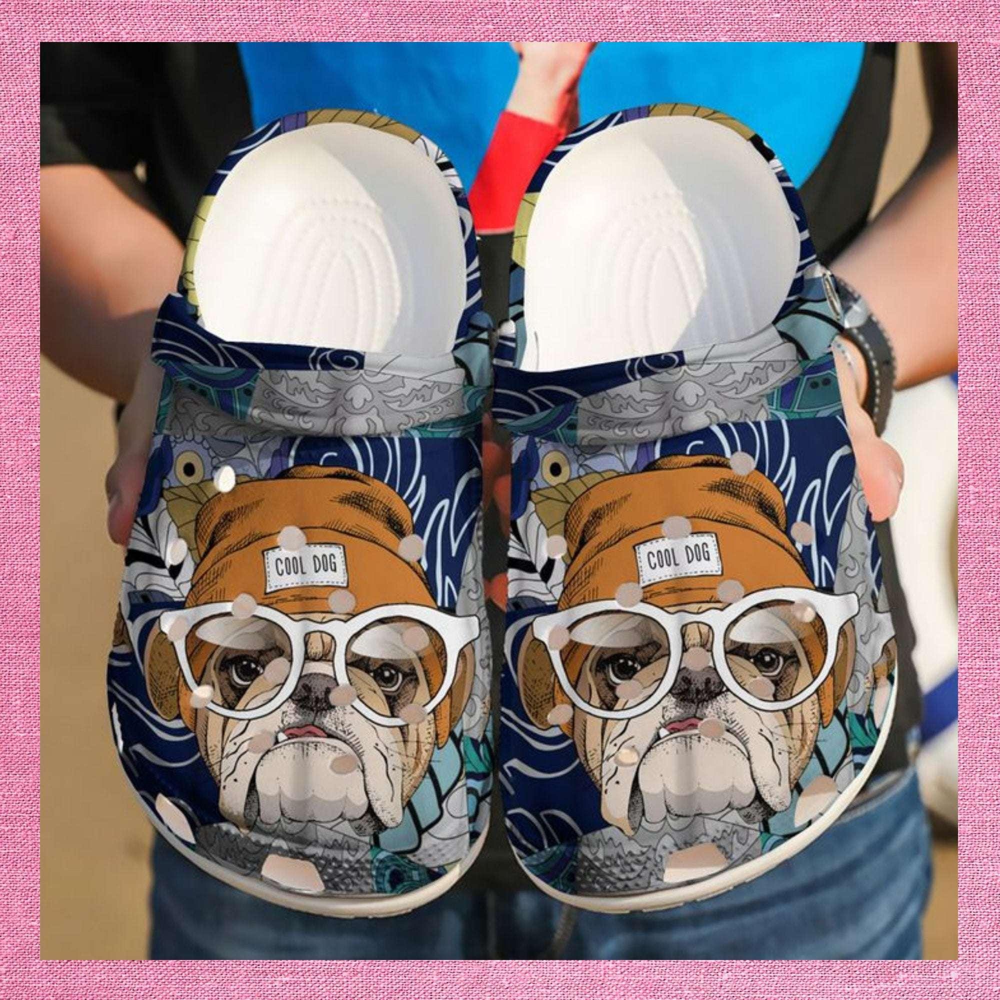 Bulldog Cool Dog Crocs Clog Shoes