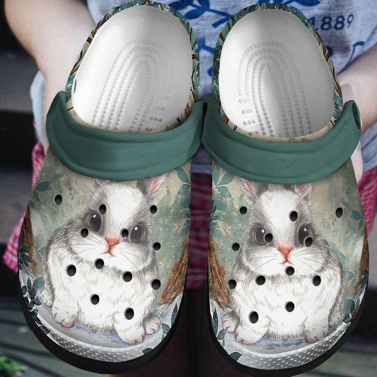 Bunny Rabbit Crocs Clog Shoes