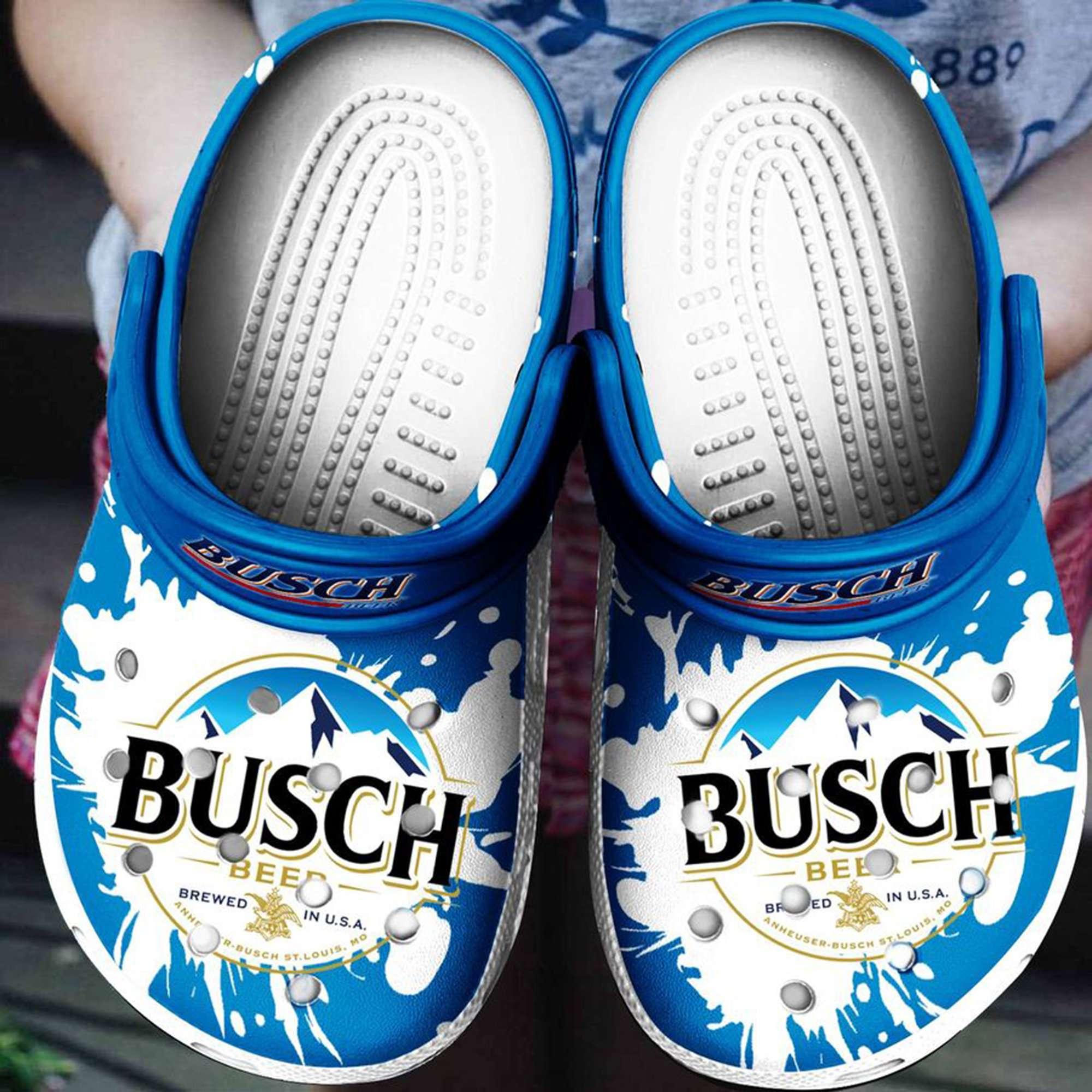 Busch Beer Crocs Clog Shoes