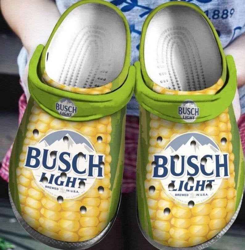 Busch Light Comfortable For Mens And Womens Classic Water Crocs Clog Shoes