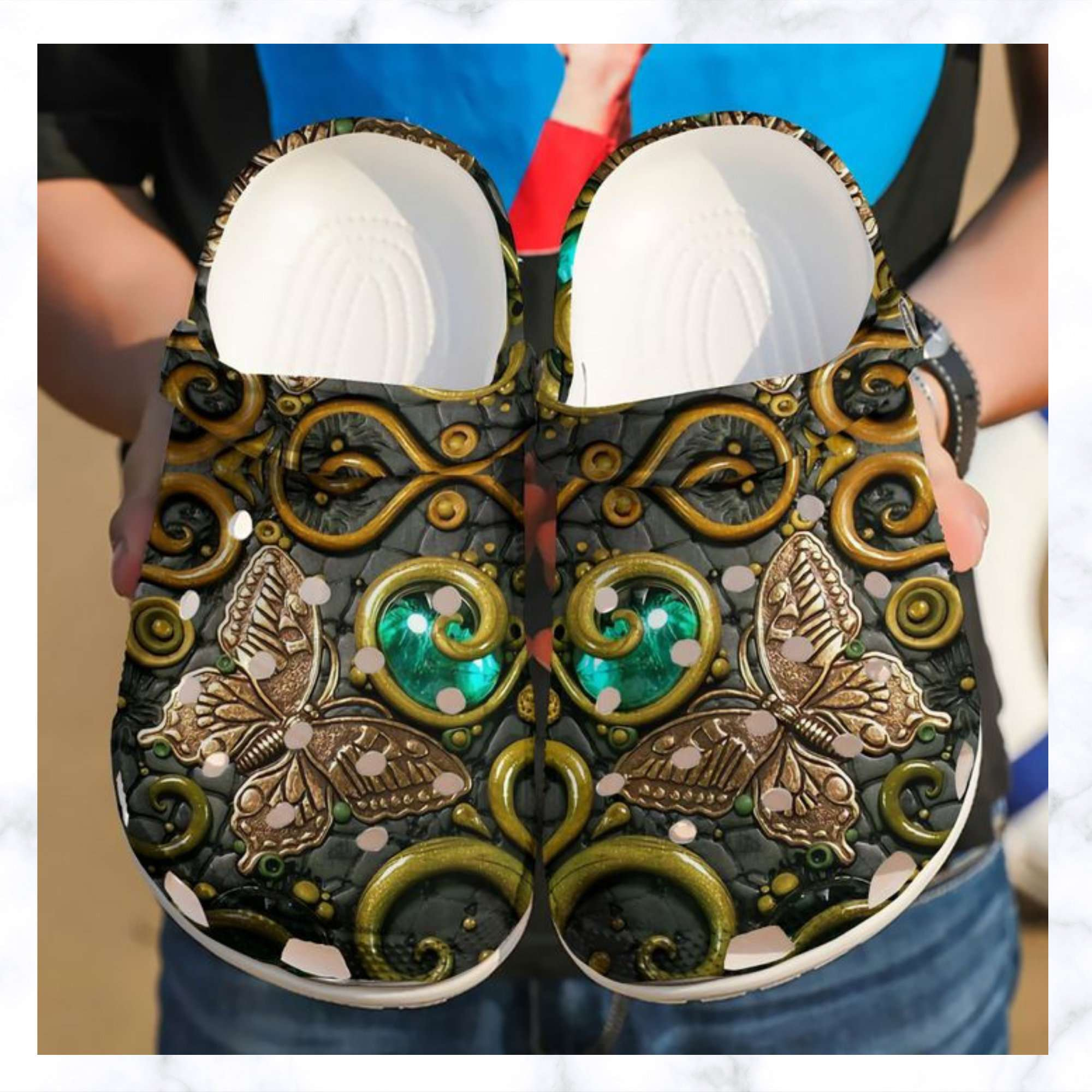 Butterfly Ancient Crocs Clog Shoes