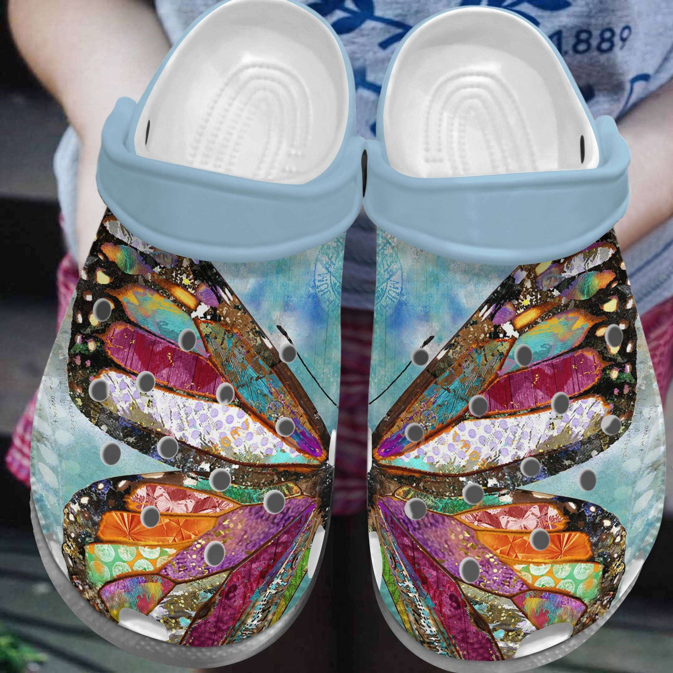 Butterfly Crocs Clog Shoes