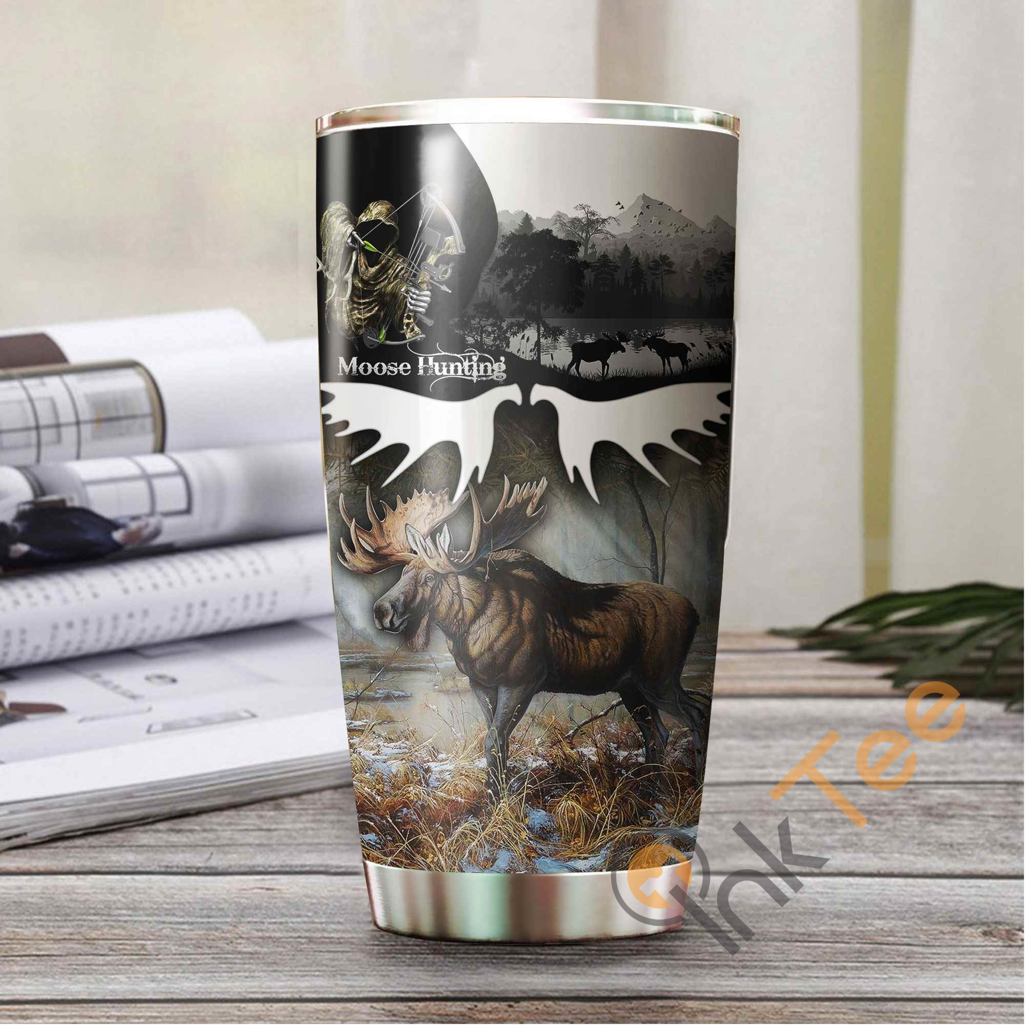 Camo Huntaholic Amazon Best Seller Sku 3483 Stainless Steel Tumbler
