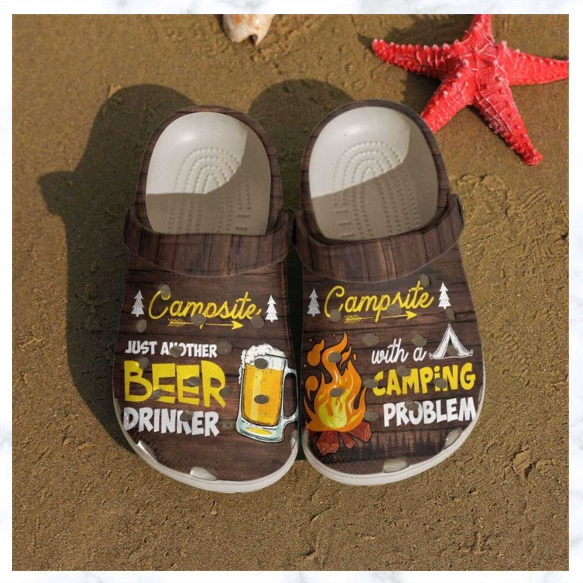 Camping Beer And Campfire Crocs Clog Shoes