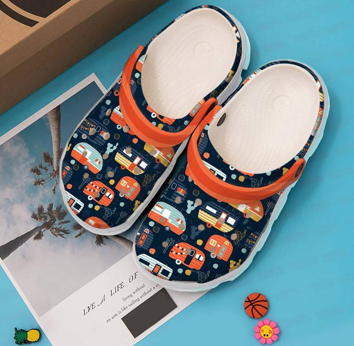 Camping Happy Campers V Crocs Clog Shoes