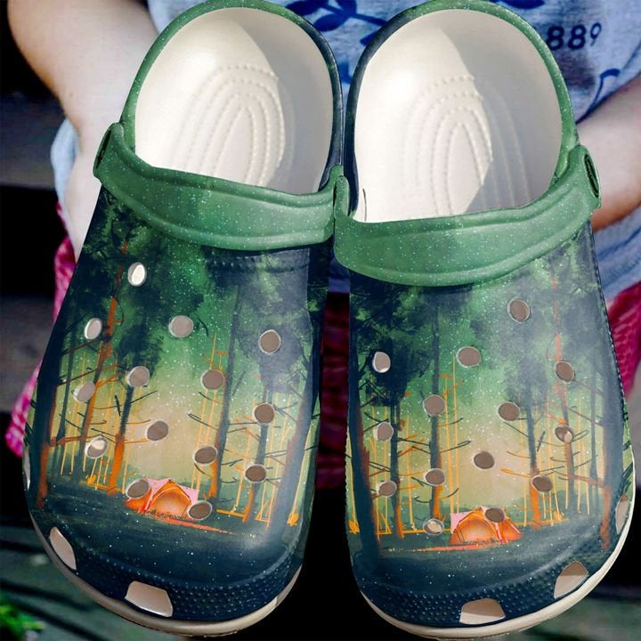 Camping In The Woods Crocs Clog Shoes