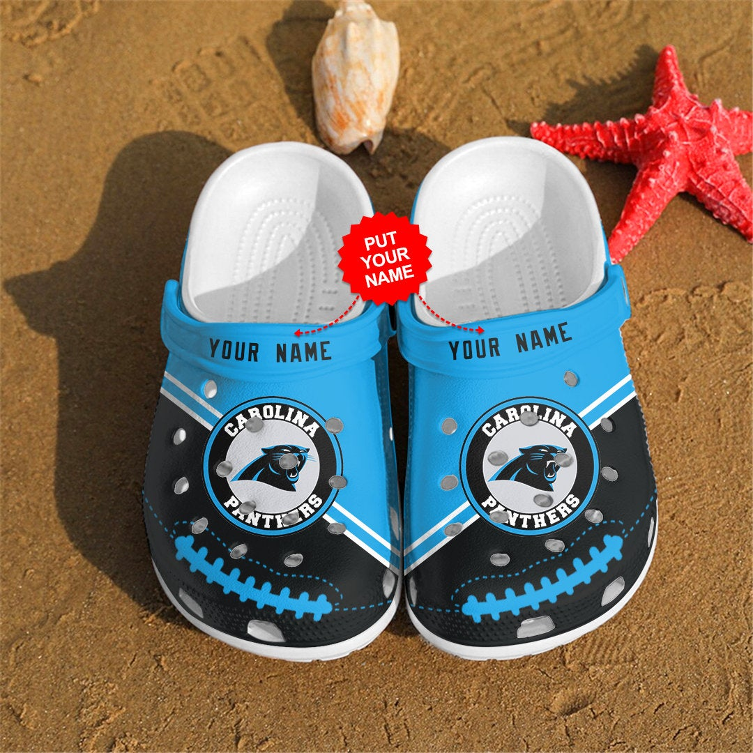Carolina Panthers Personalized Custom For Nfl Fans Crocs Clog Shoes