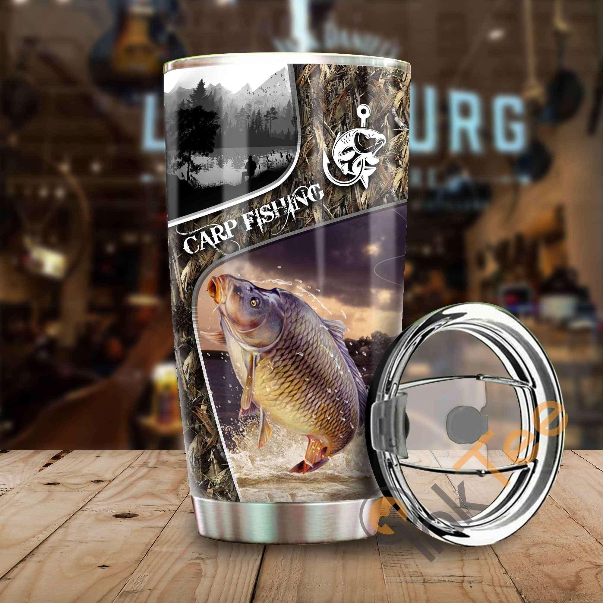 Carp Fishing Camo Amazon Best Seller Sku 3223 Stainless Steel Tumbler