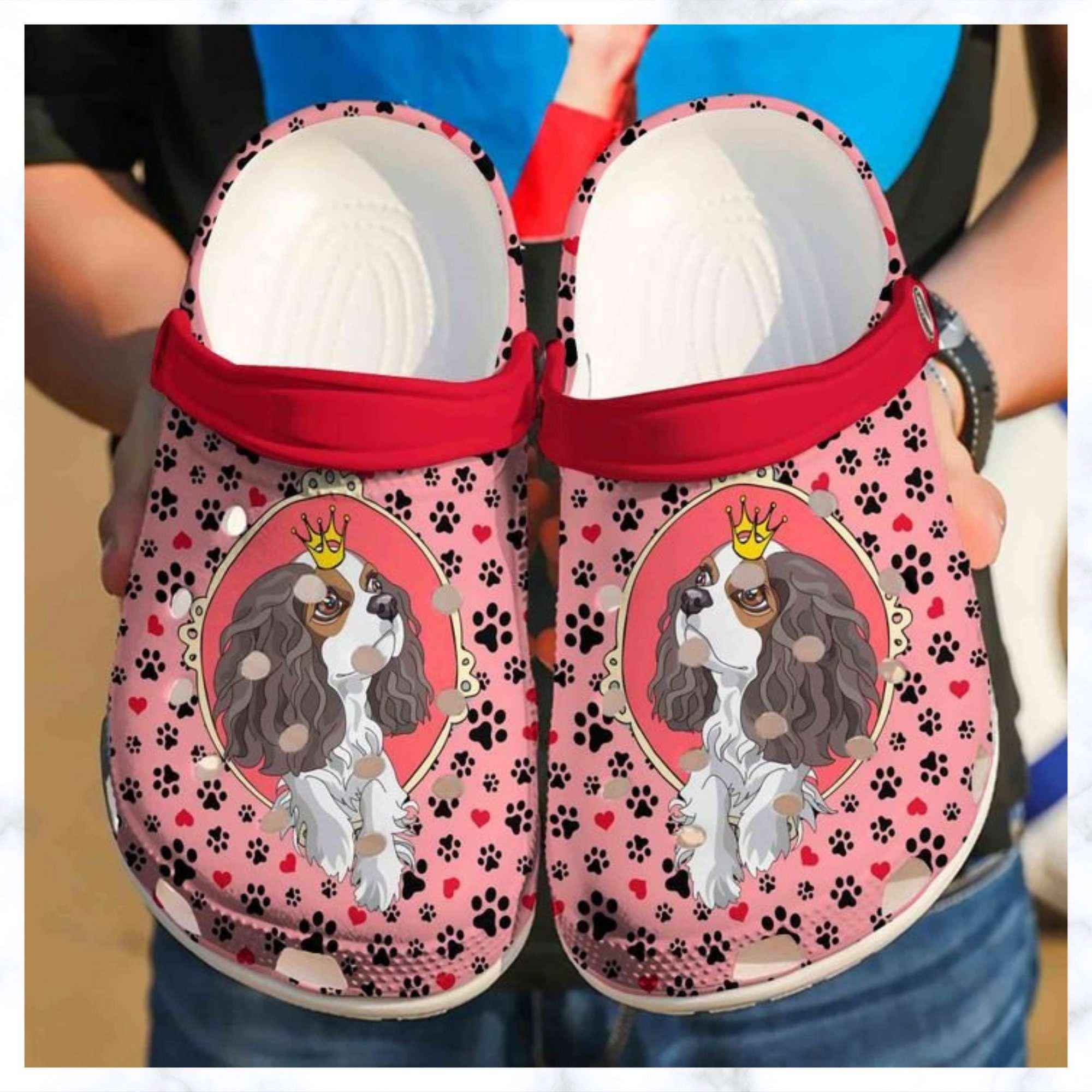 Cavalier King Charles Spaniel Cute Crocs Clog Shoes
