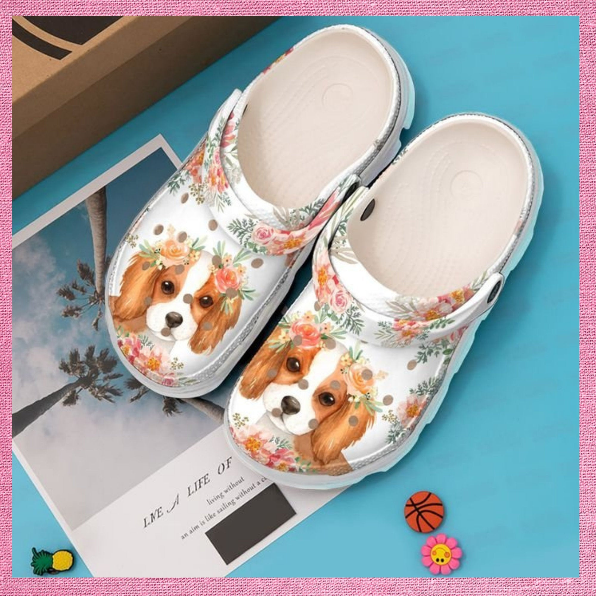 Cavalier King Spaniel Baby Crocs Clog Shoes