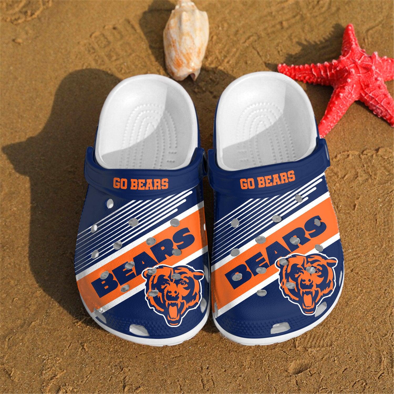 Chicago Bears Go Bears Custom For Nfl Fans Crocs Clog Shoes