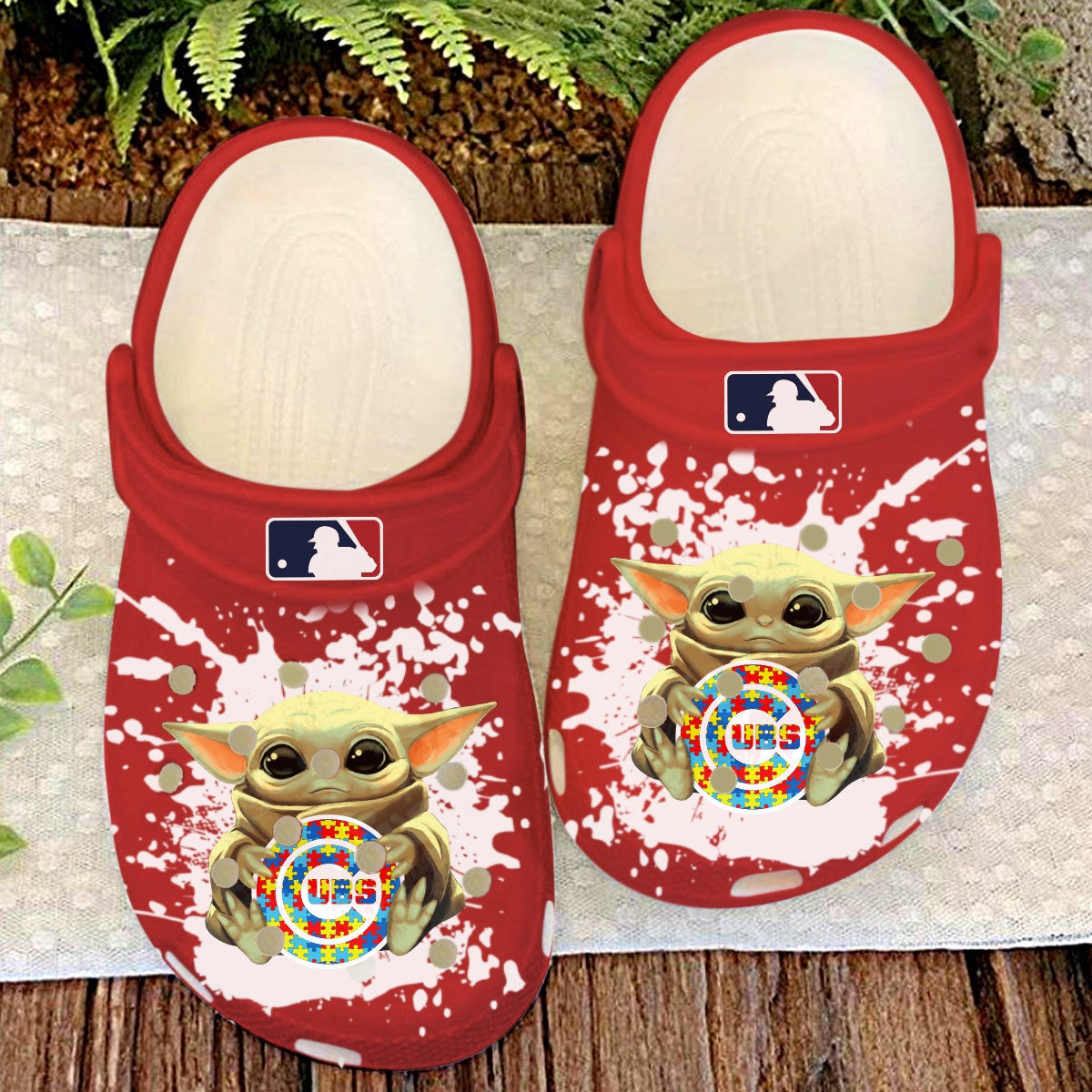 Chicago Cubs Baby Yoda Autism Crocs Clog Shoes