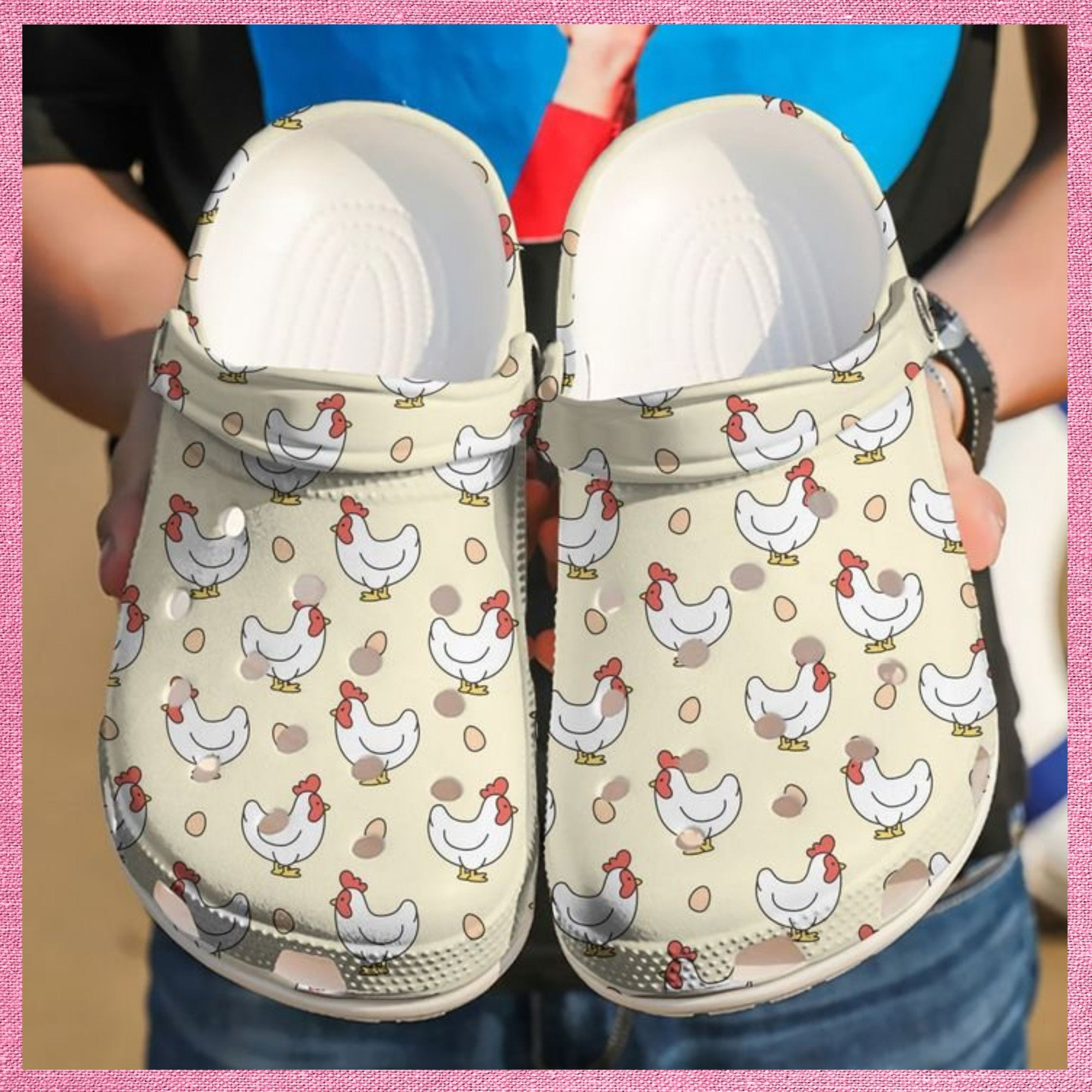 Chicken And Egg Crocs Clog Shoes