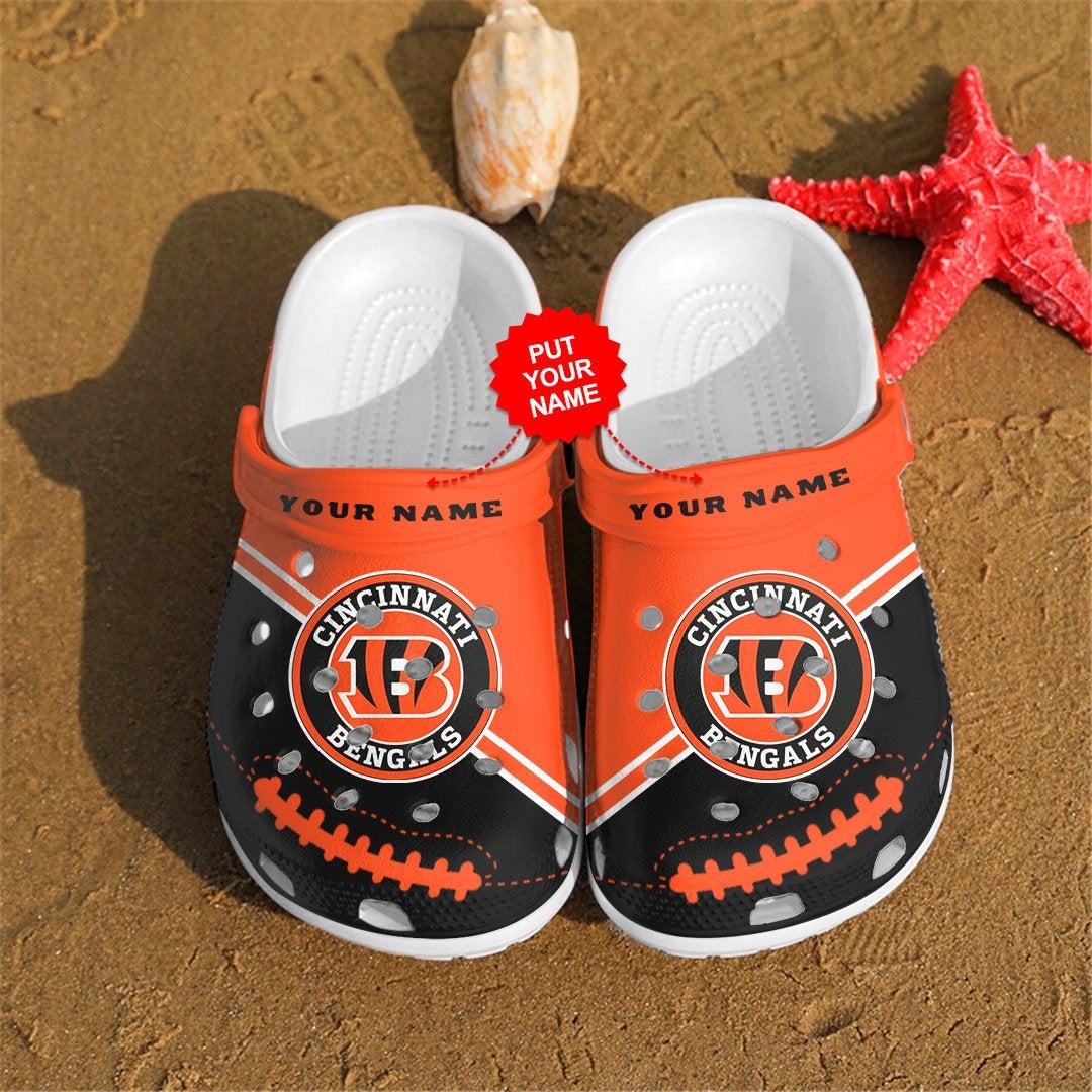 Cincinnati Bengals Personalized Custom For Nfl Fans Crocs Clog Shoes