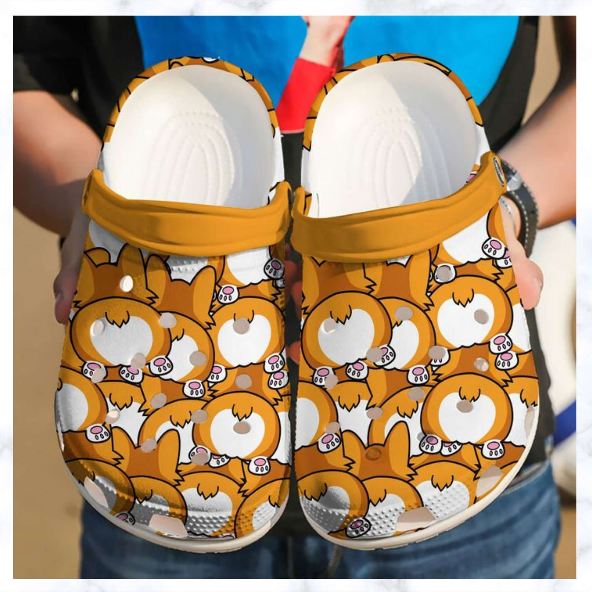 Corgi Butts Crocs Clog Shoes