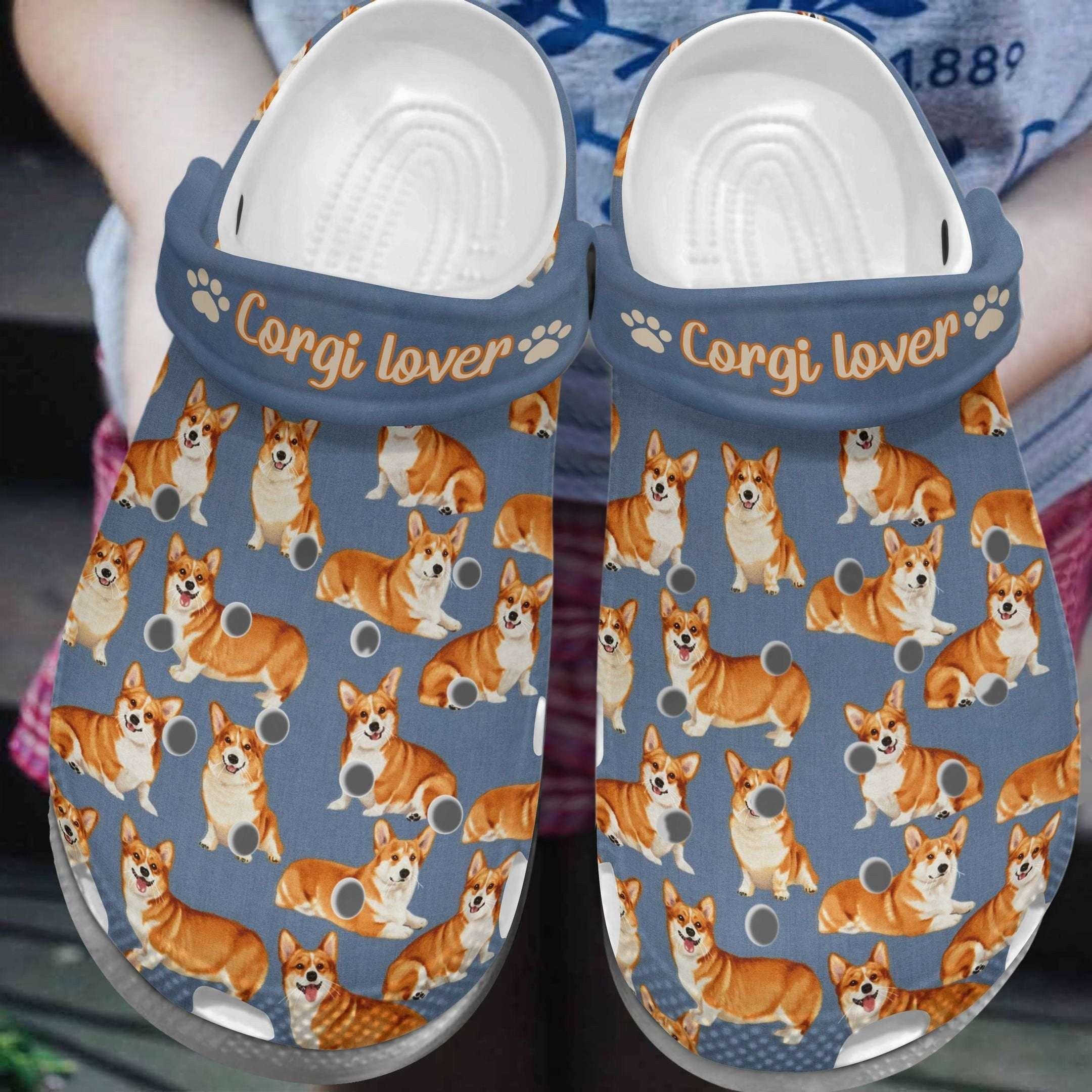 Corgi Lover Crocs Clog Shoes