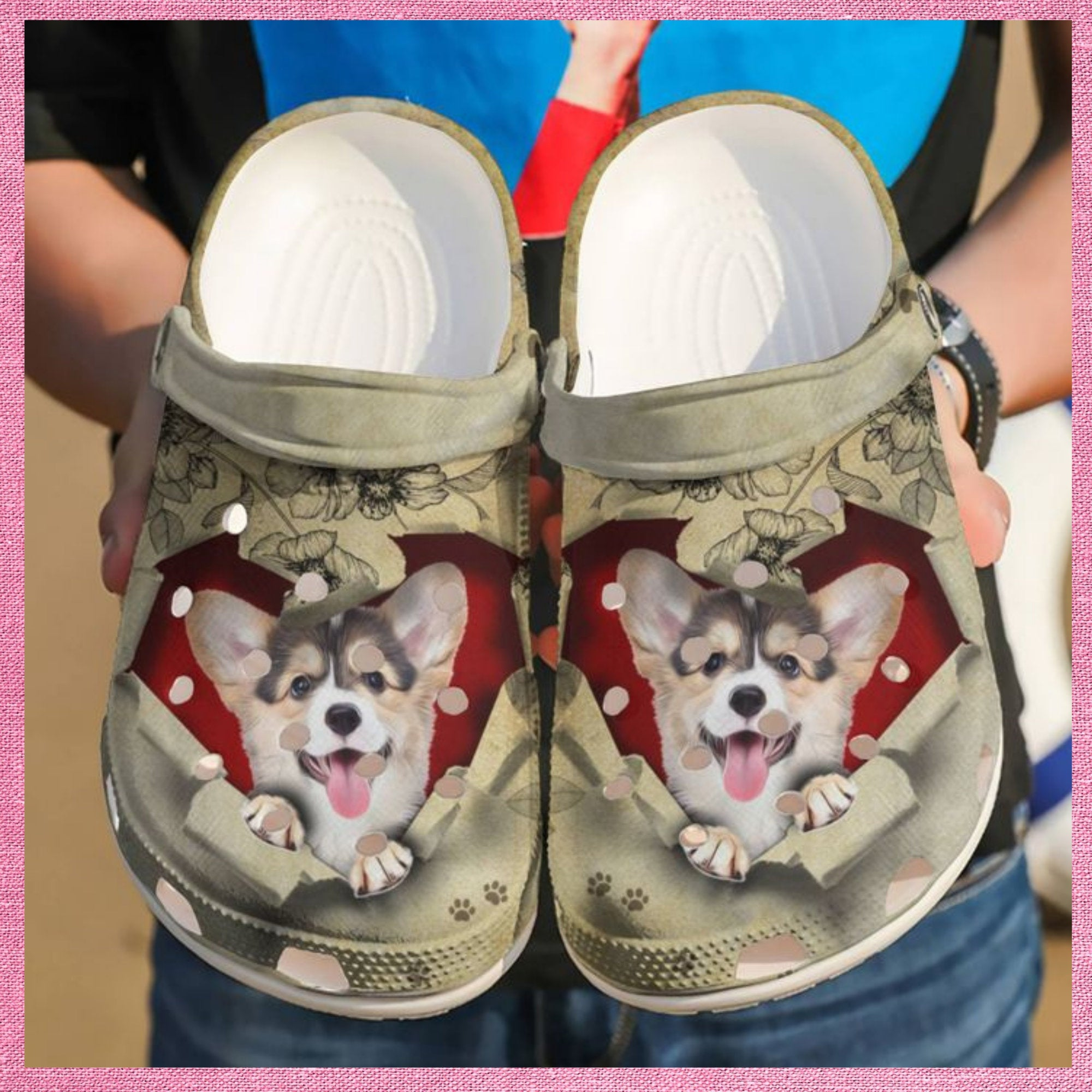 Corgi They Steal My Heart Crocs Clog Shoes