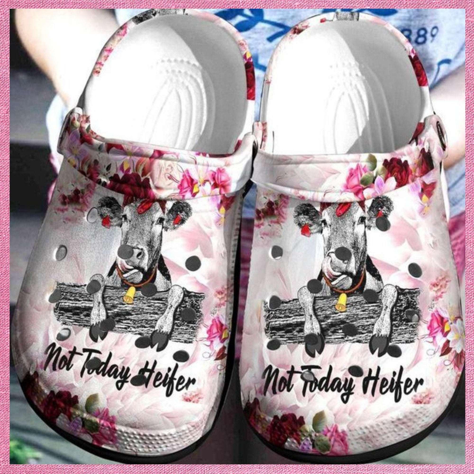 Cow Not Today Heifer Crocs Clog Shoes
