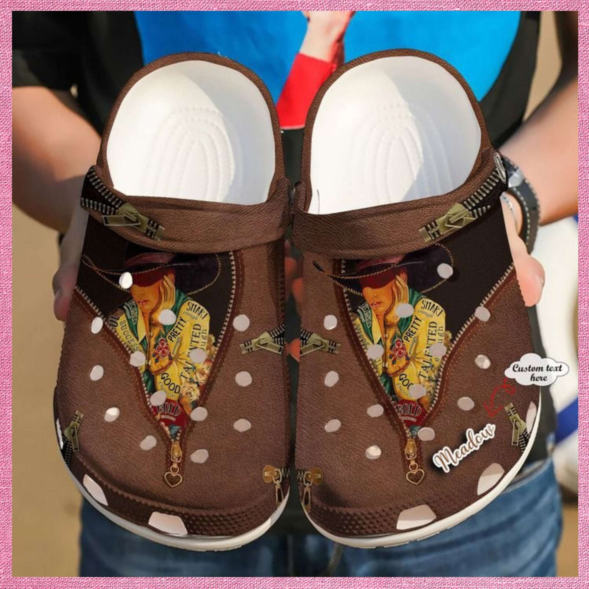Cowgirl Personalized Pretty Crocs Clog Shoes
