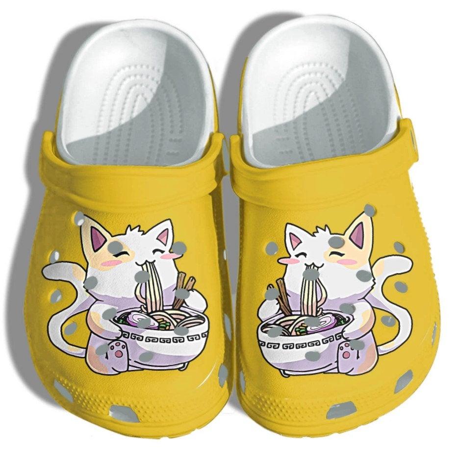 Cute Anime Cat Crocs Clog Shoes