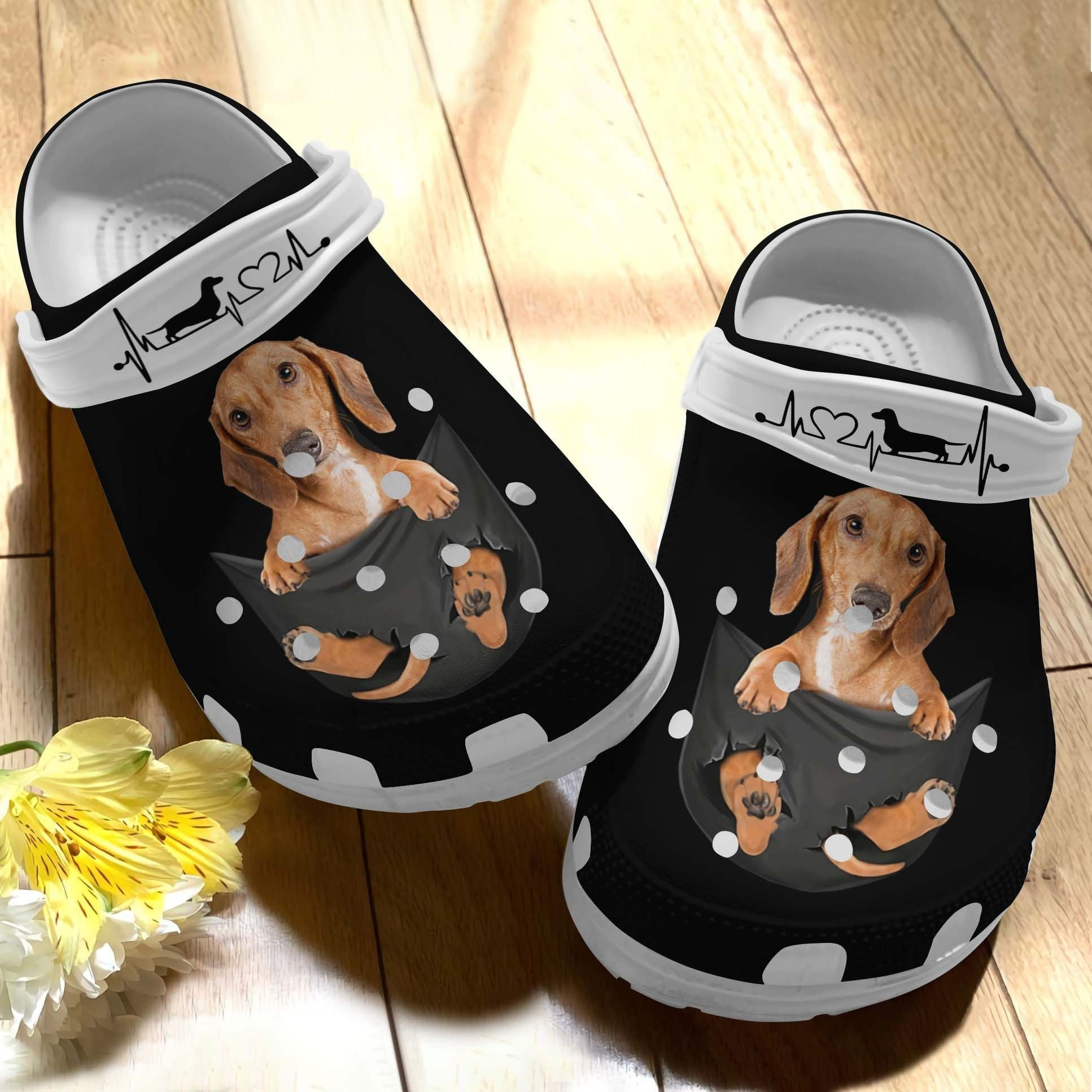 Dachshund A Lovely Crocs Clog Shoes