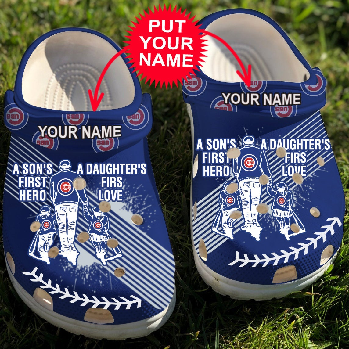 Dad And Son Daughter Mlb Chicago Cubs Crocs Clog Shoes