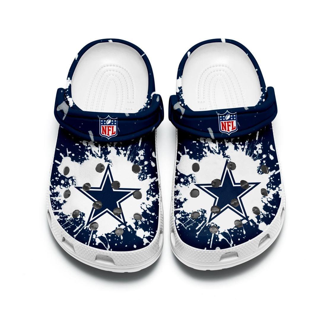 Dallas Cowboys Custom For Nfl Fans Crocs Clog Shoes